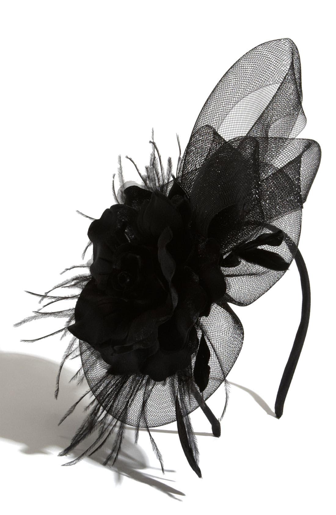 'I Heart Flower' Fascinator Headband,                         Main,                         color, 001