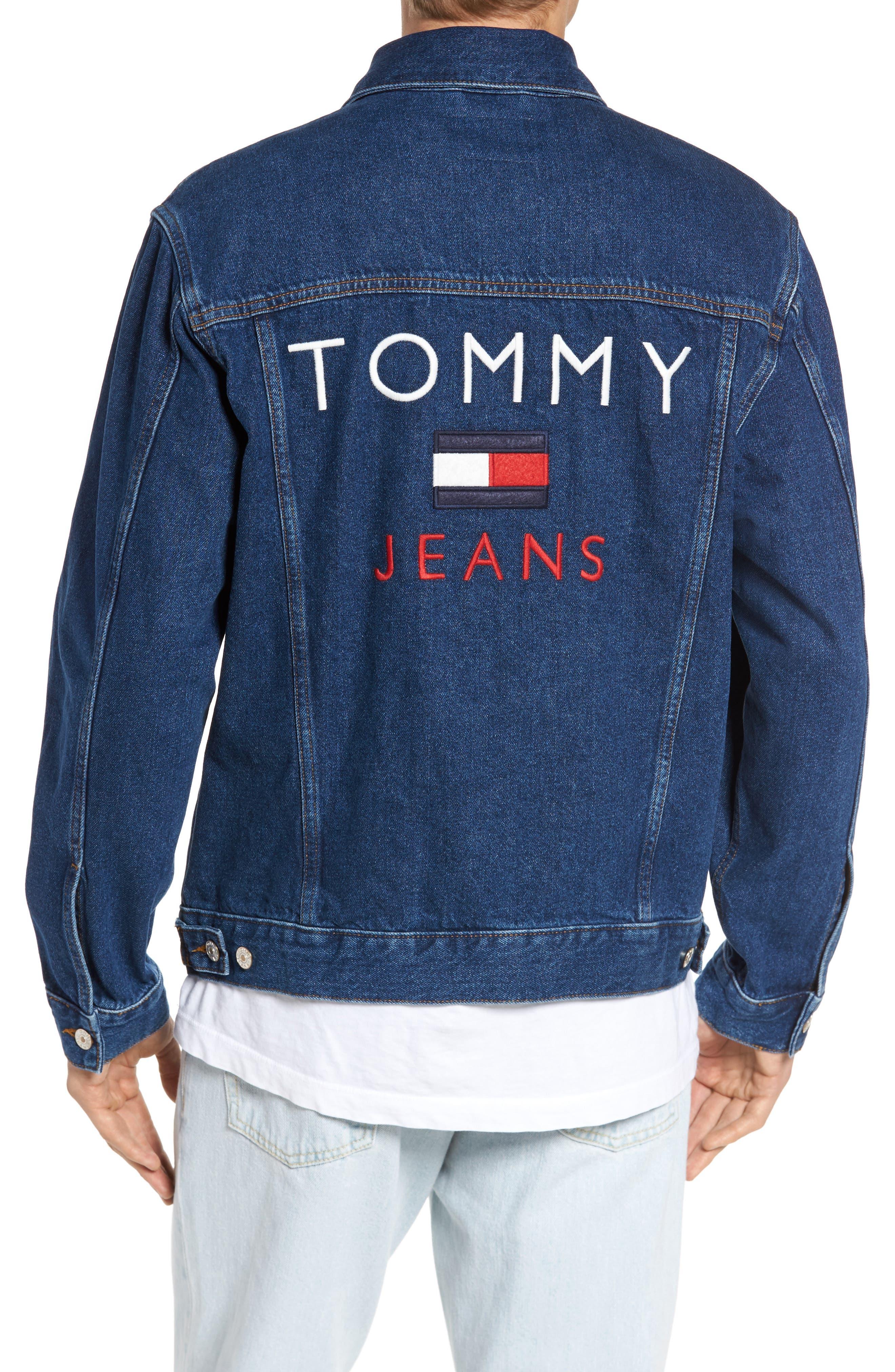 TOMMY HILFIGER,                             90s Denim Jacket,                             Alternate thumbnail 2, color,                             411