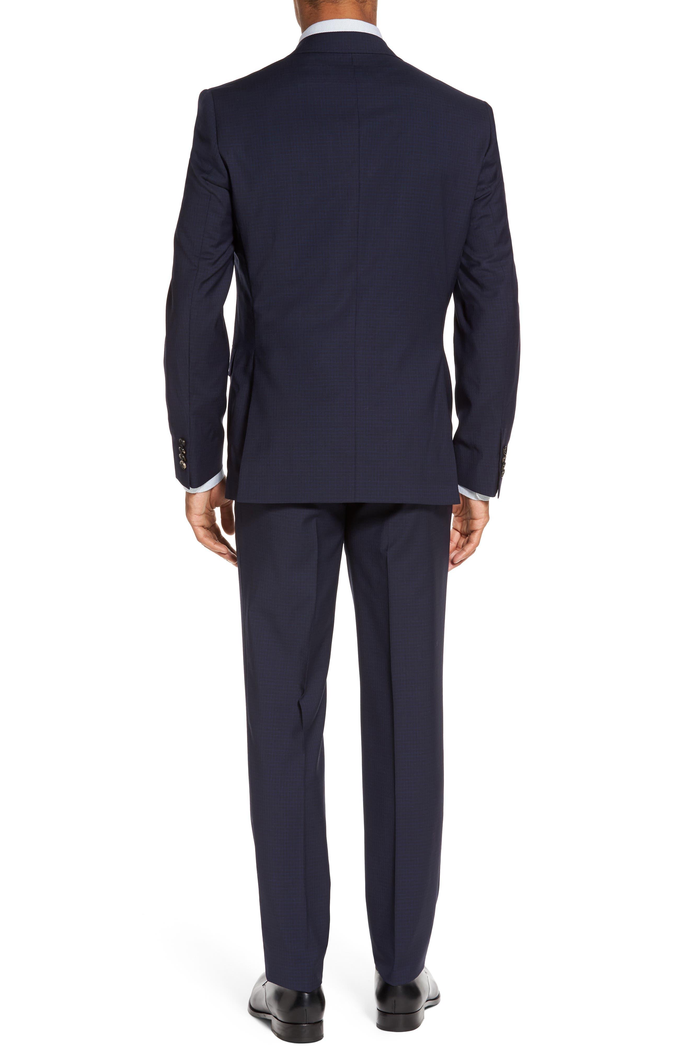 Roger Trim Fit Check Wool Suit,                             Alternate thumbnail 2, color,                             410