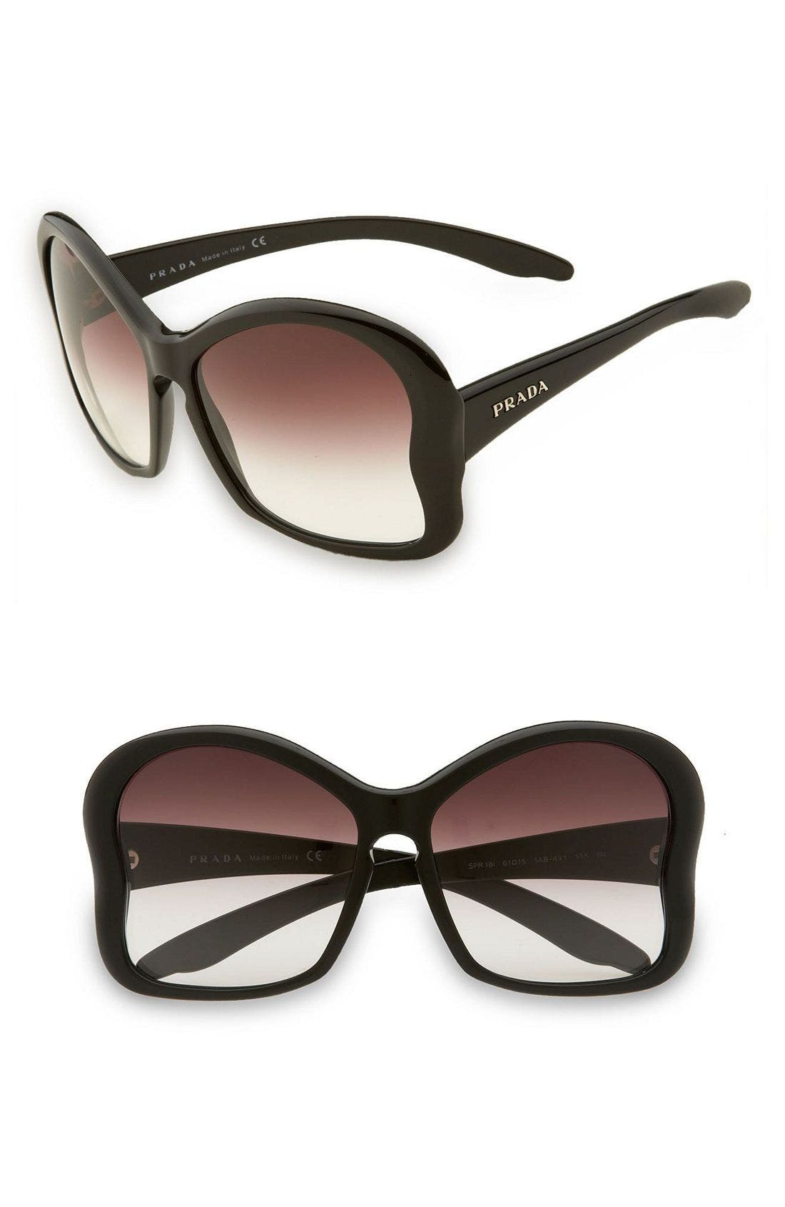 PRADA,                             Large Butterfly Frame Sunglasses,                             Main thumbnail 1, color,                             200