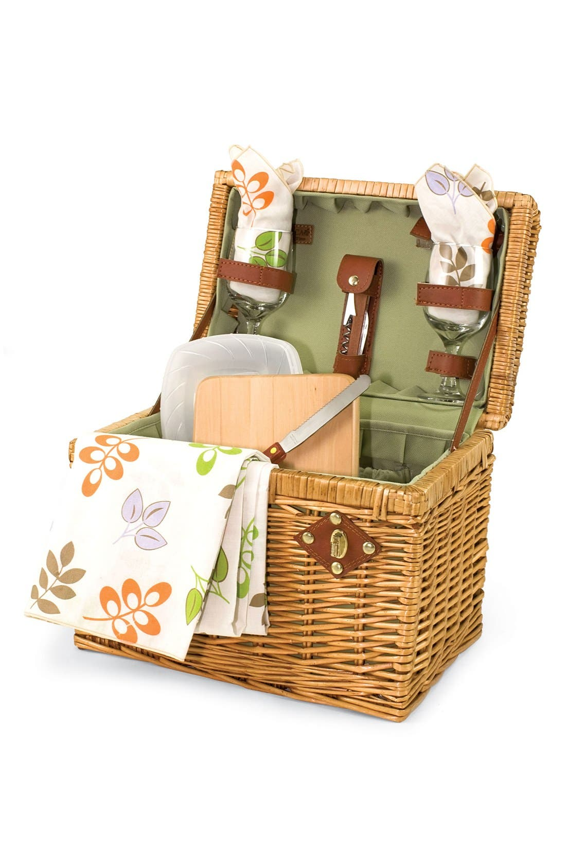 'Napa' Wicker Picnic Basket,                             Main thumbnail 1, color,                             200