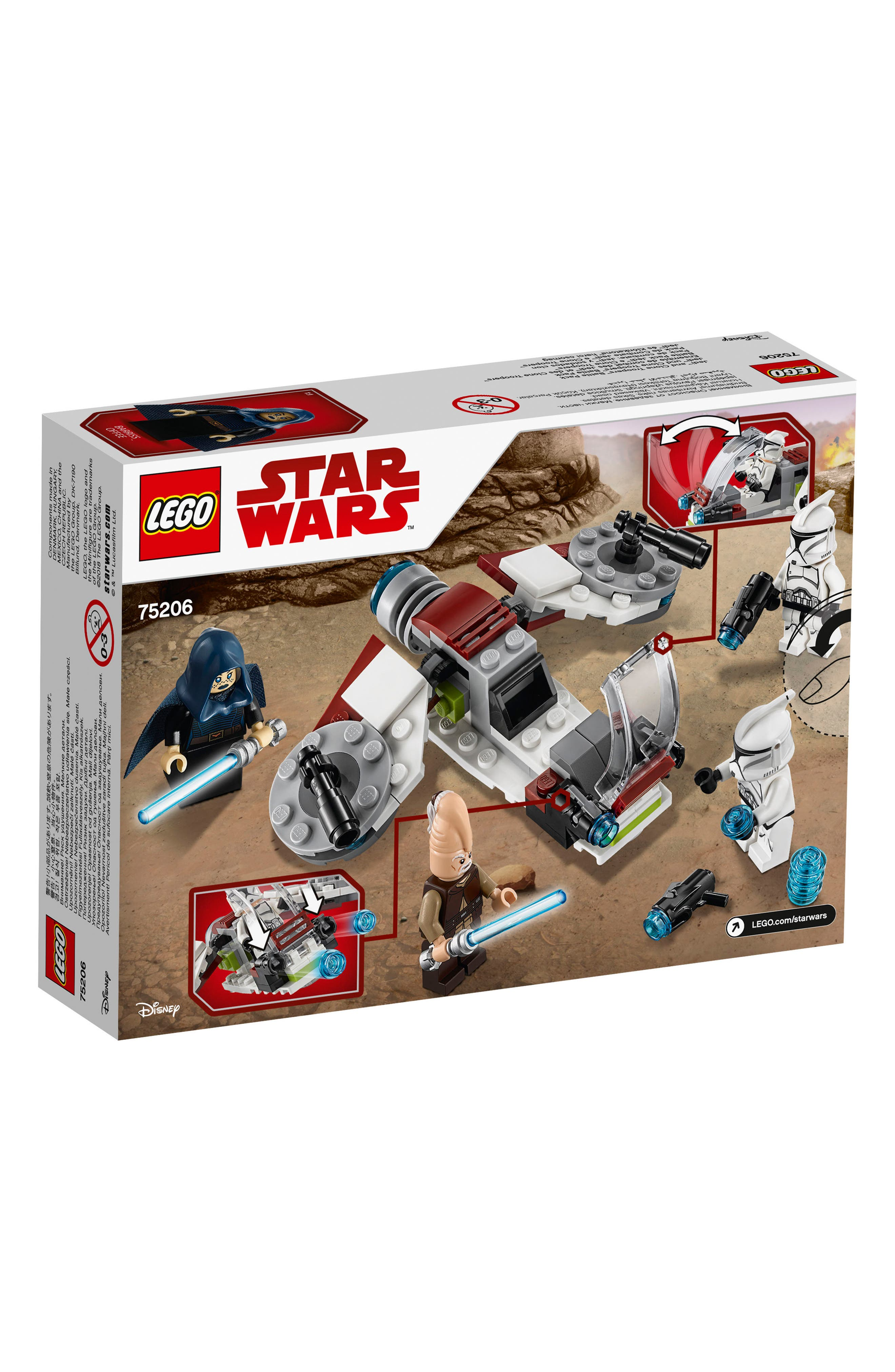 Jedi<sup>™</sup> and Clone Troopers<sup>™</sup> Battle Pack - 75206,                             Alternate thumbnail 7, color,                             100
