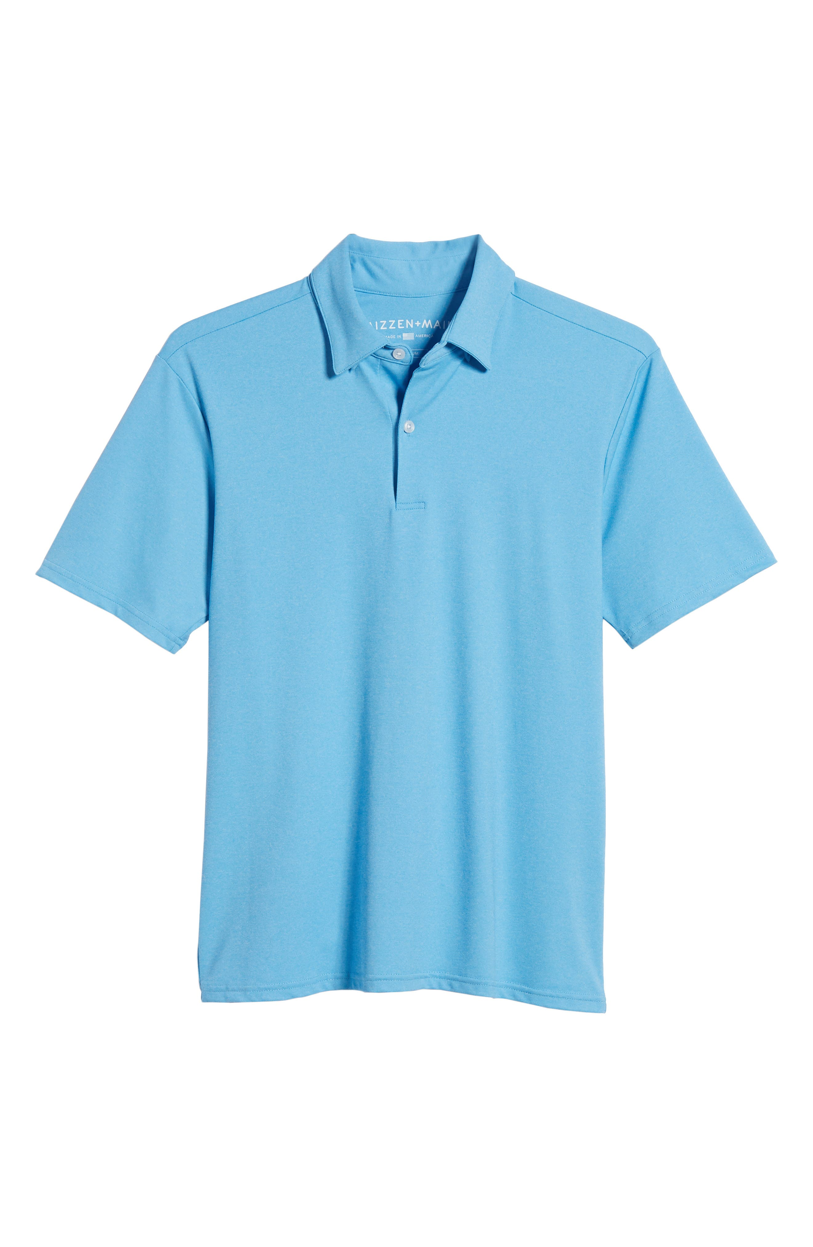 Slim Fit Active Polo,                             Alternate thumbnail 6, color,                             HACKETT BLUE