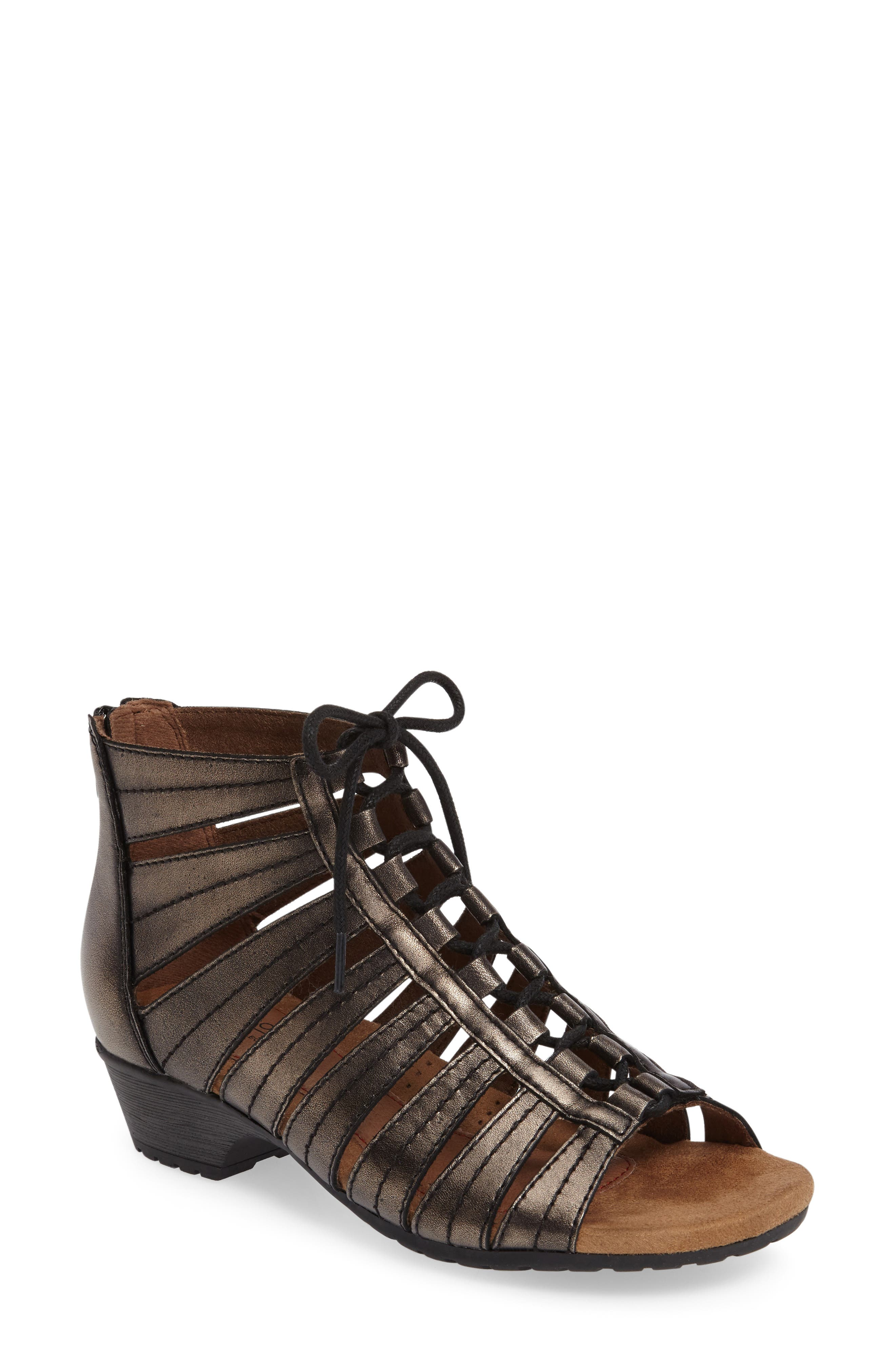 'Gabby' Lace-Up Sandal,                             Main thumbnail 4, color,