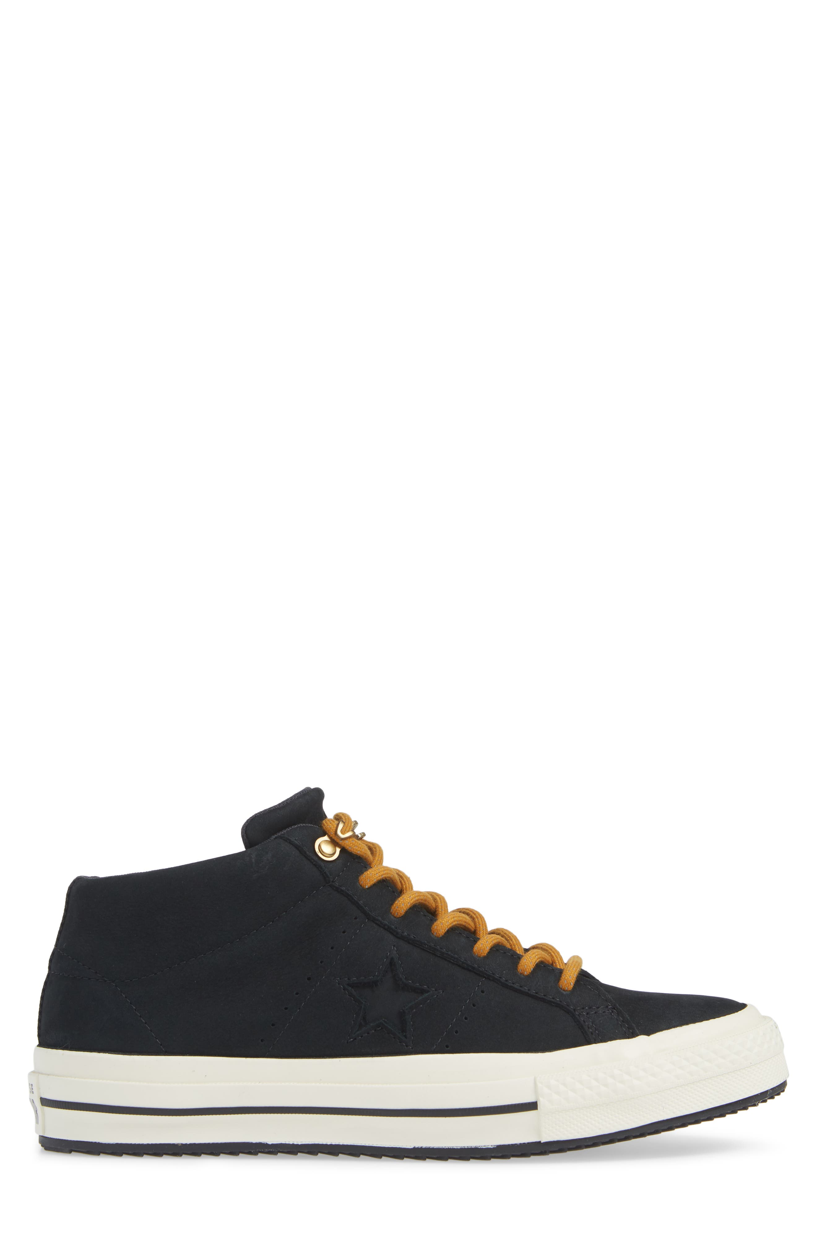 One Star Mid Counter Climate Scout Sneaker,                             Alternate thumbnail 3, color,                             BLACK/ BLUE HERO/ TEAK SUEDE