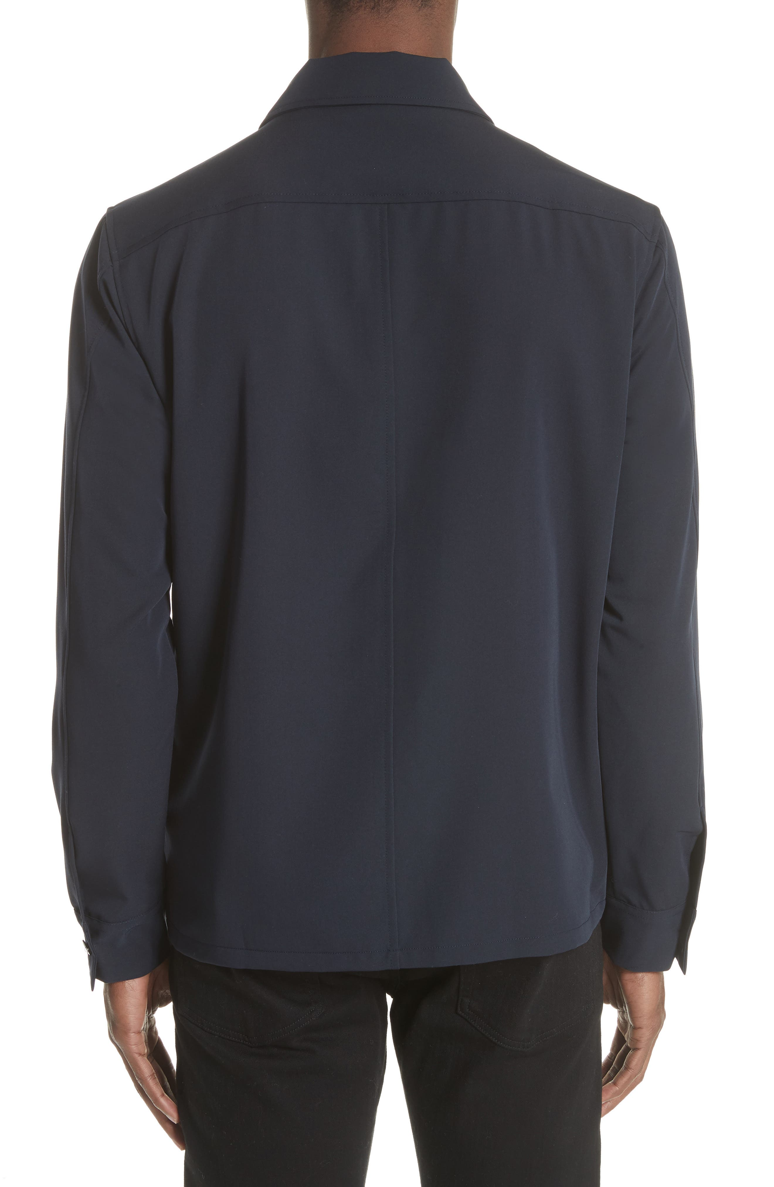 Gabardine Zip Shirt Jacket,                             Alternate thumbnail 2, color,