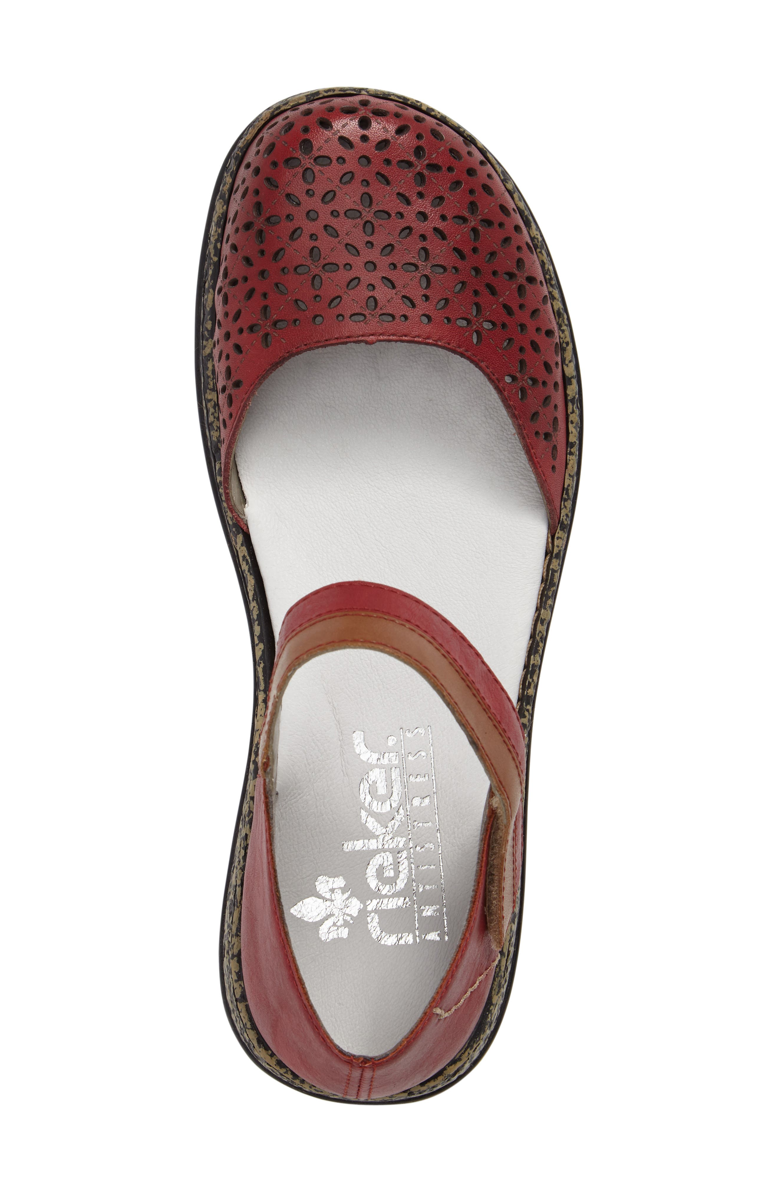 Daisy 10 Mary Jane Flat,                             Alternate thumbnail 5, color,                             ROSSO LEATHER