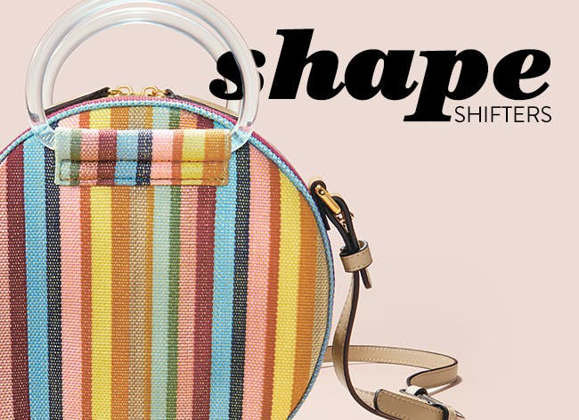 Shape shifters: structured handbags.