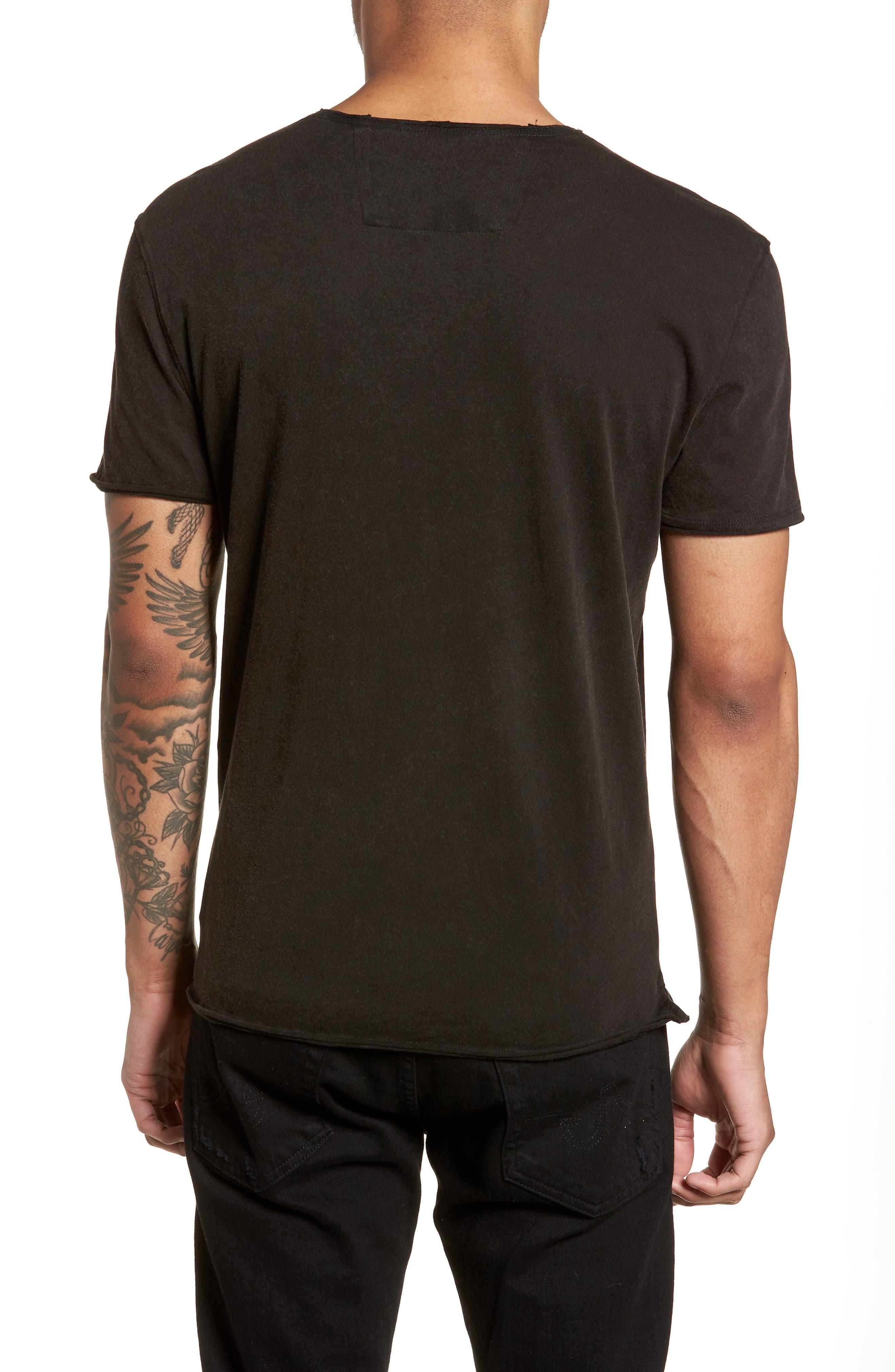 Doors Crewneck T-Shirt,                             Alternate thumbnail 2, color,                             BLACK