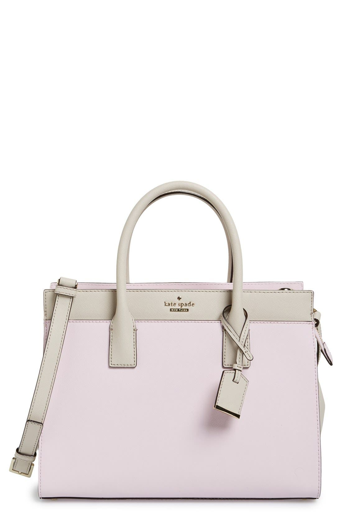 cameron street - candace leather satchel,                             Main thumbnail 20, color,