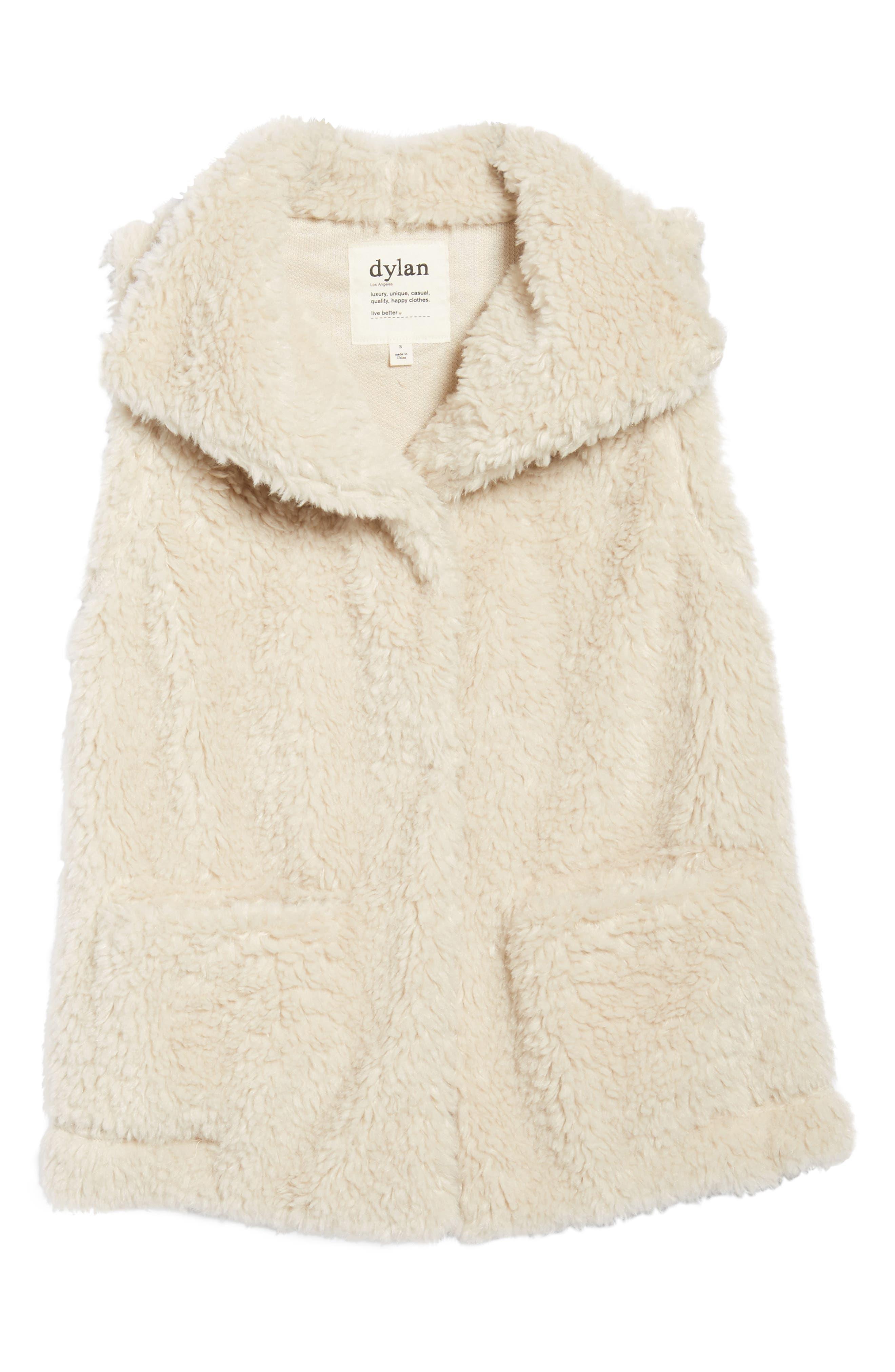 Cozy Faux Shearling Vest,                             Alternate thumbnail 5, color,