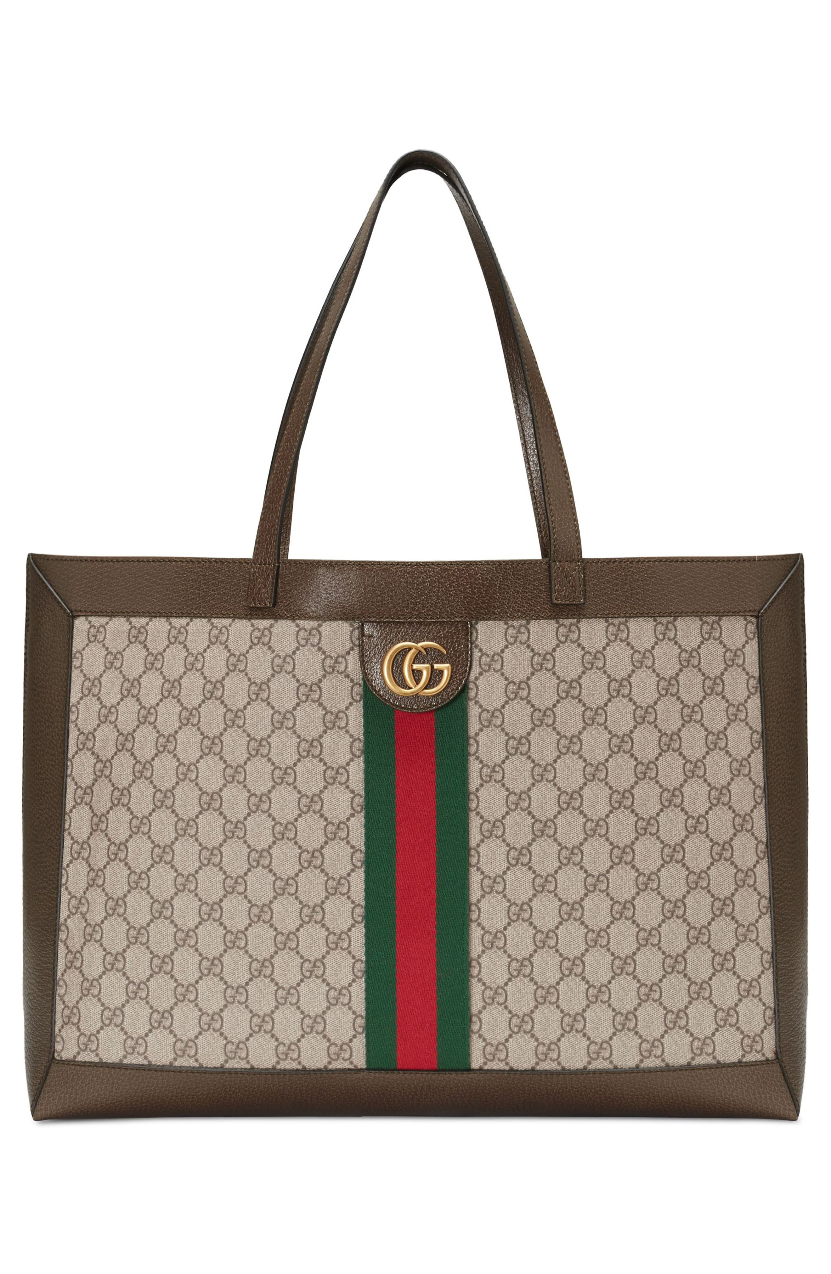 Ophidia GG Supreme Canvas Tote,                             Alternate thumbnail 5, color,                             284