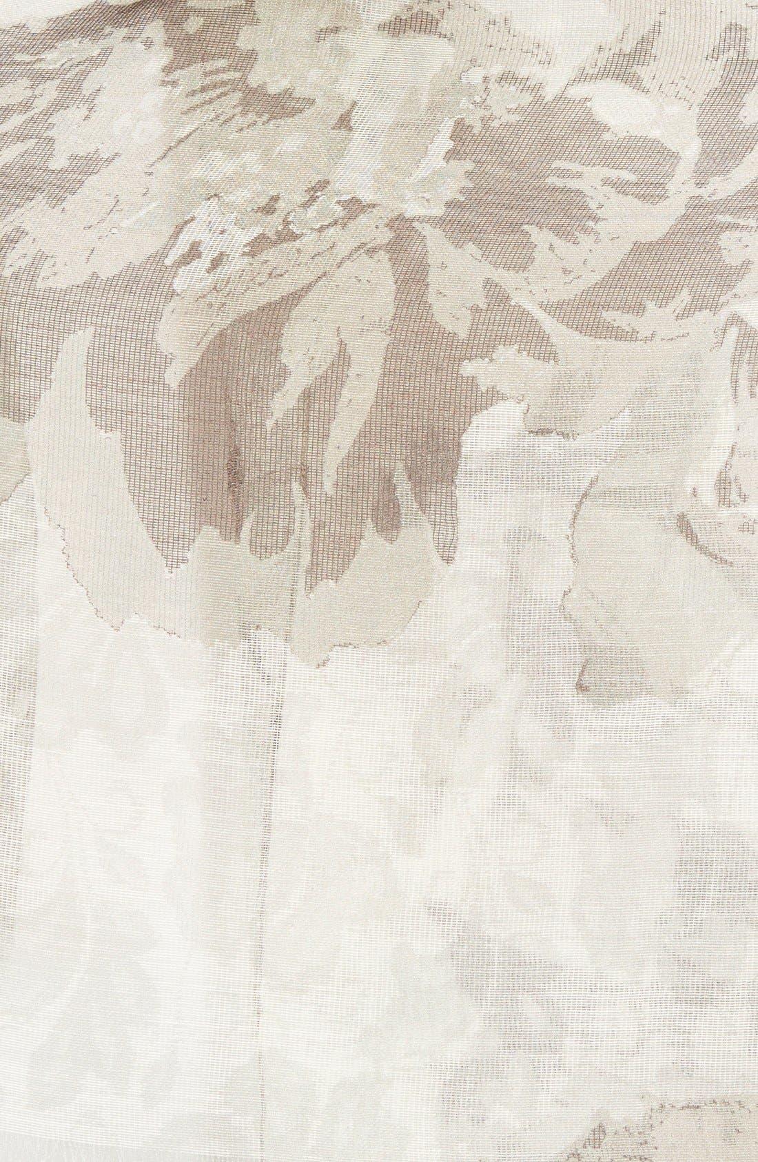 'Sheer Rose' Floral Print Modal & Silk Scarf,                             Alternate thumbnail 3, color,                             200