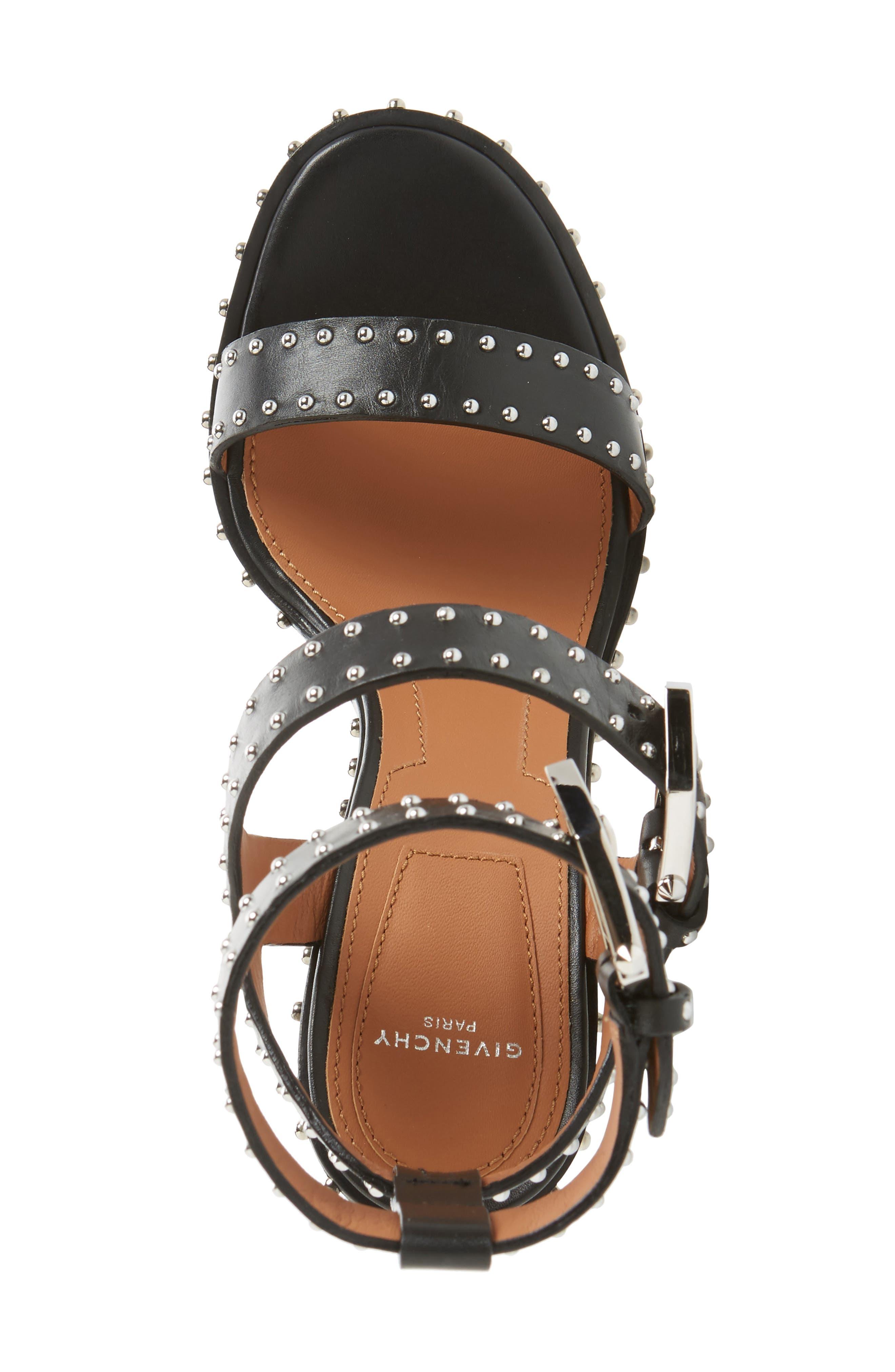 Elegant Studded Sandal,                             Alternate thumbnail 5, color,                             001