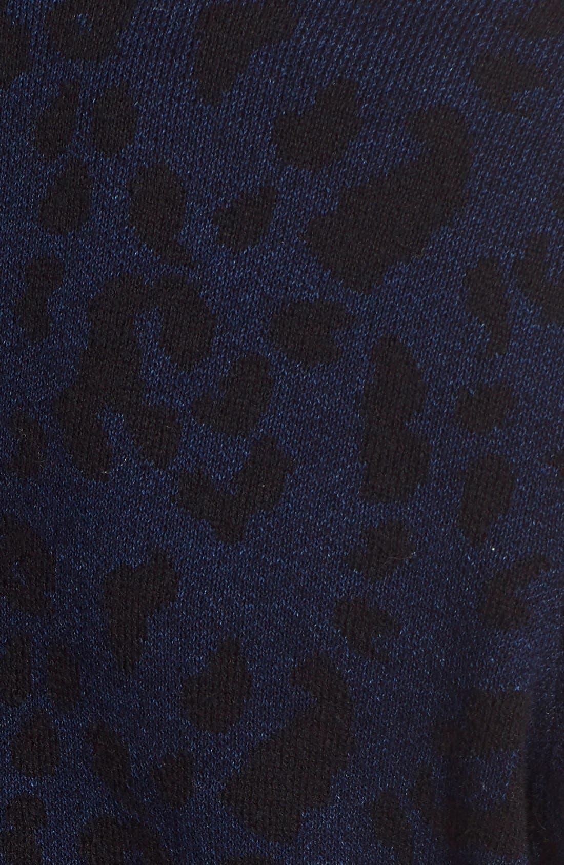 JOE'S,                             Leopard Print Crop Sweater,                             Alternate thumbnail 4, color,                             440