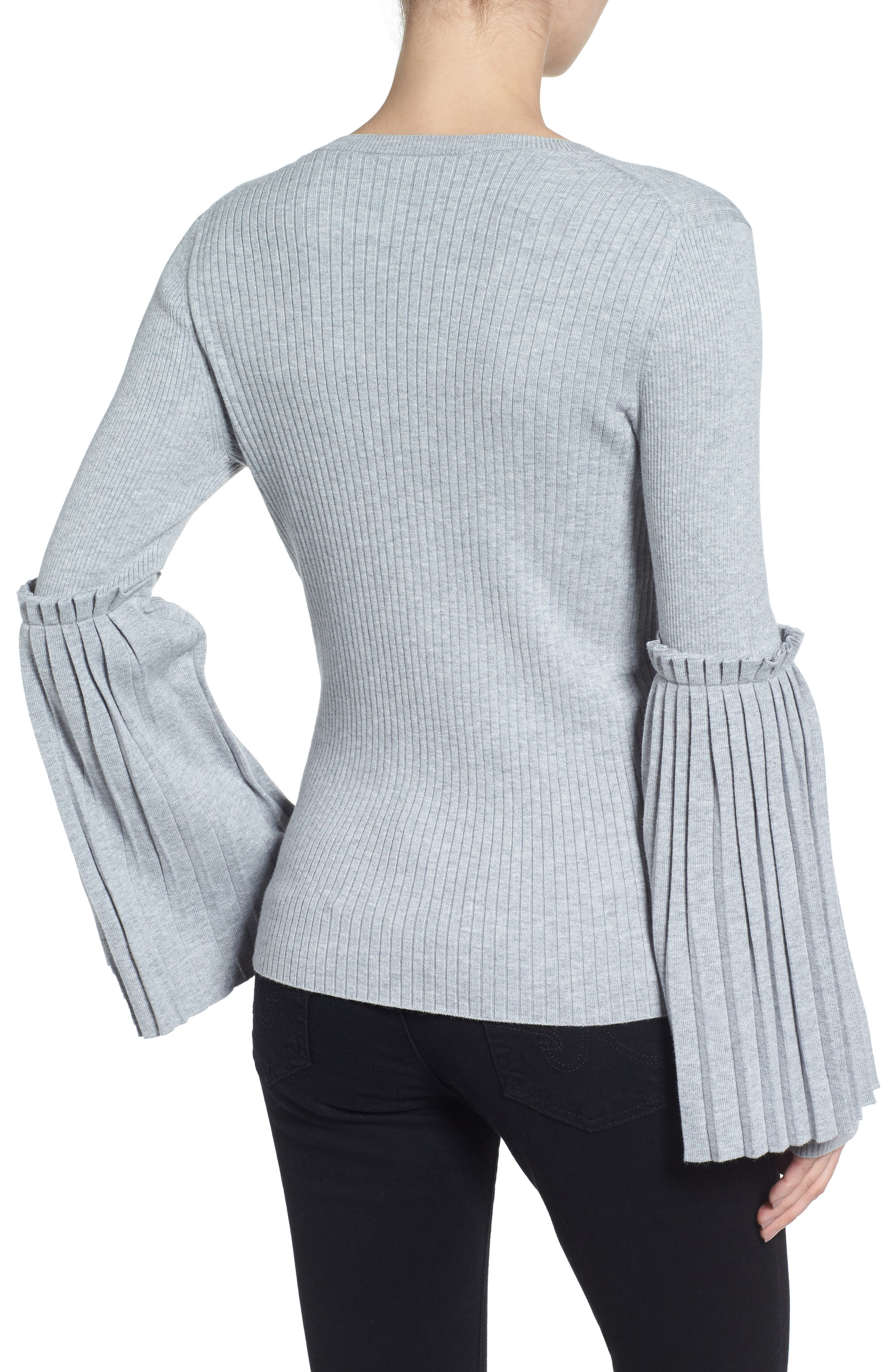 Bell Sleeve Sweater,                             Alternate thumbnail 2, color,                             050