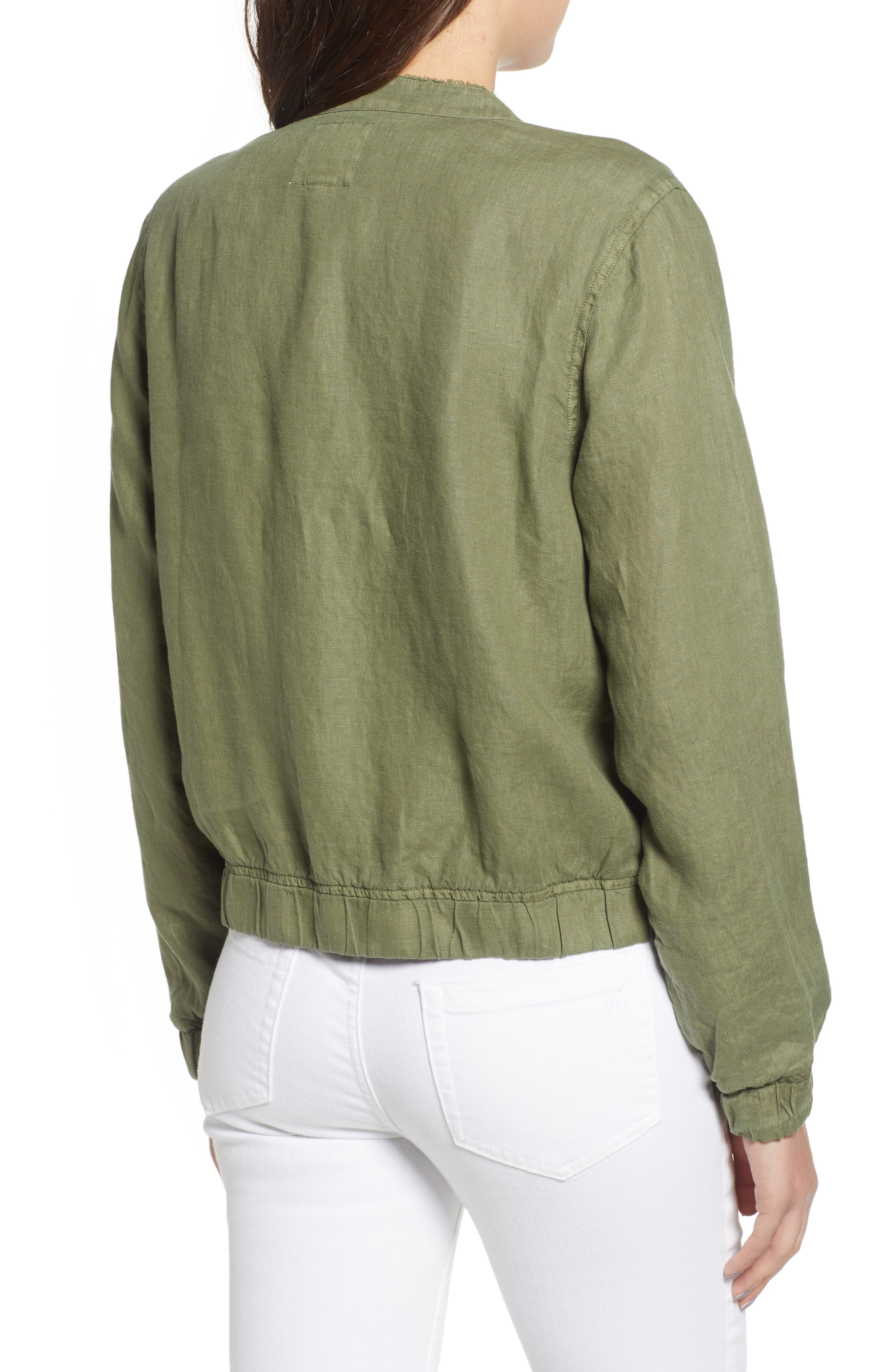 Linen Bomber Jacket,                             Alternate thumbnail 2, color,                             300