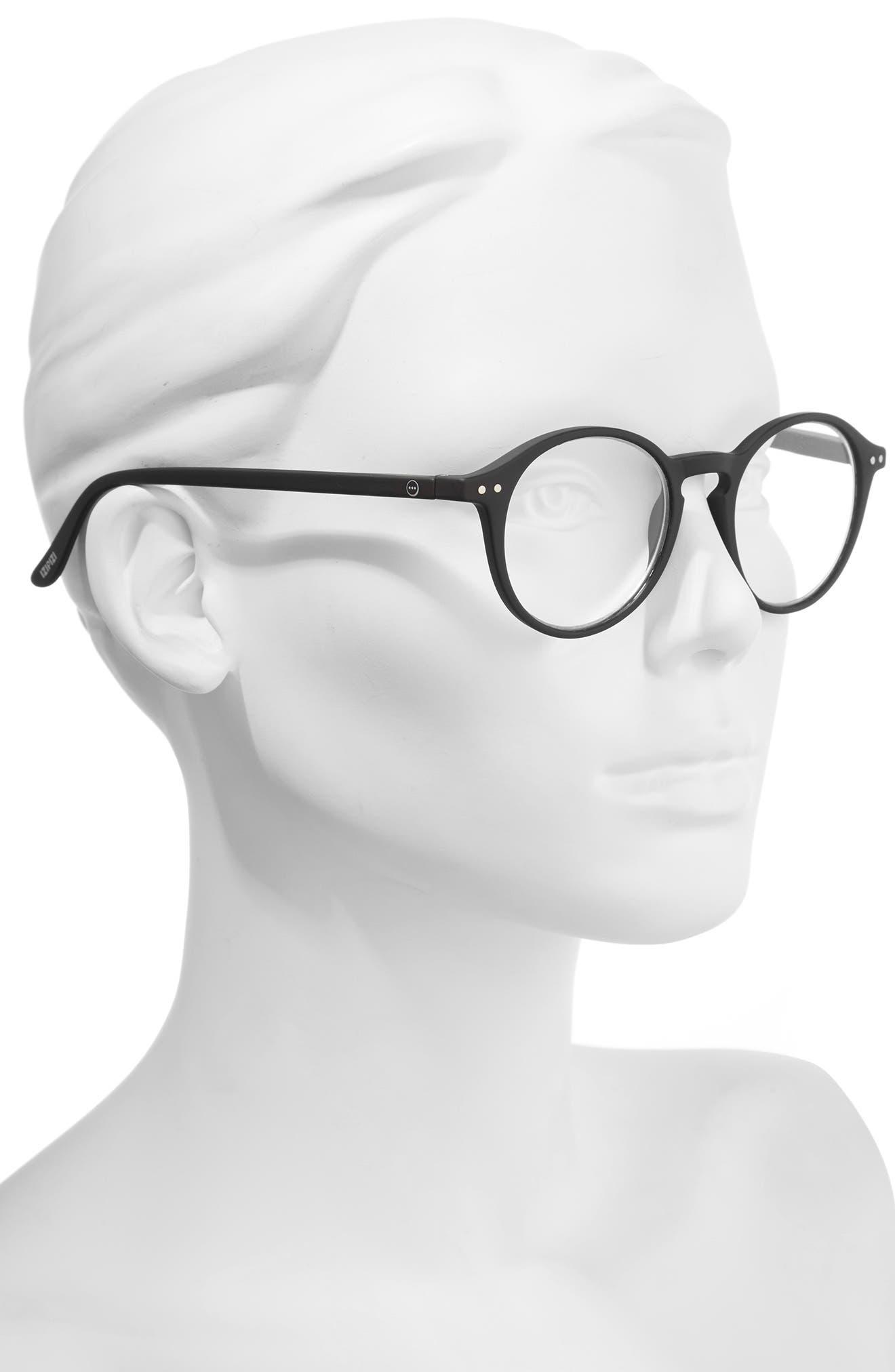 D 46mm Round Reading Glasses,                             Alternate thumbnail 2, color,                             001