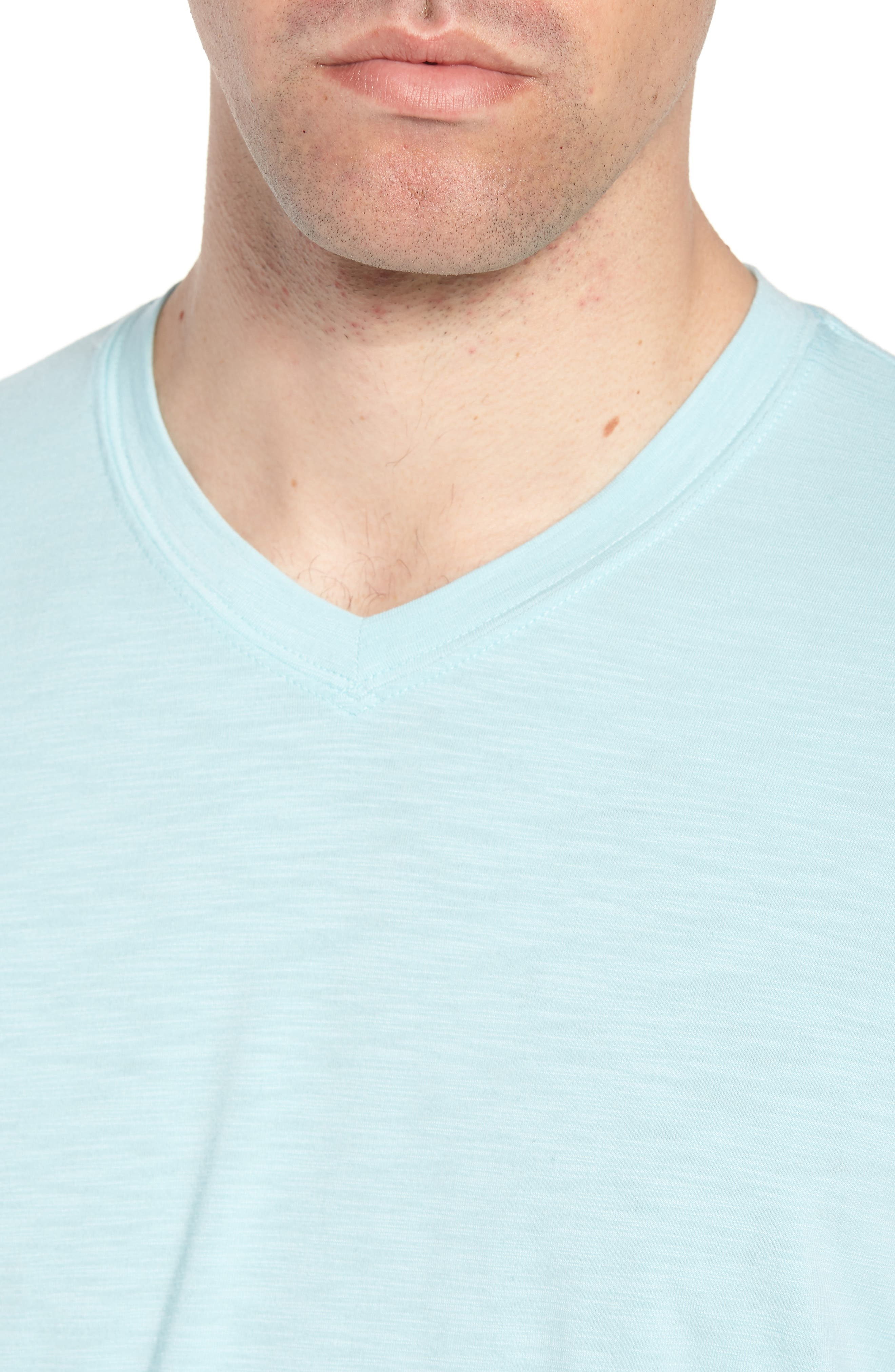 'Trumbull' Trim Fit Slubbed T-Shirt,                             Alternate thumbnail 4, color,                             PORCELAIN BLUE