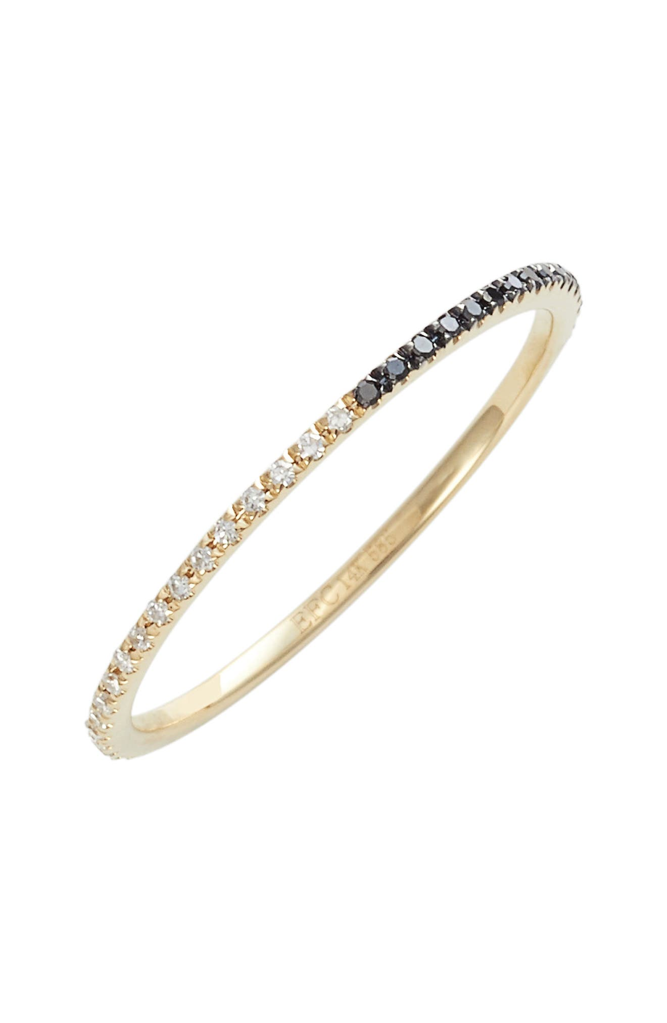 Two-Tone Diamond Eternity Ring,                             Main thumbnail 1, color,                             YELLOW GOLD