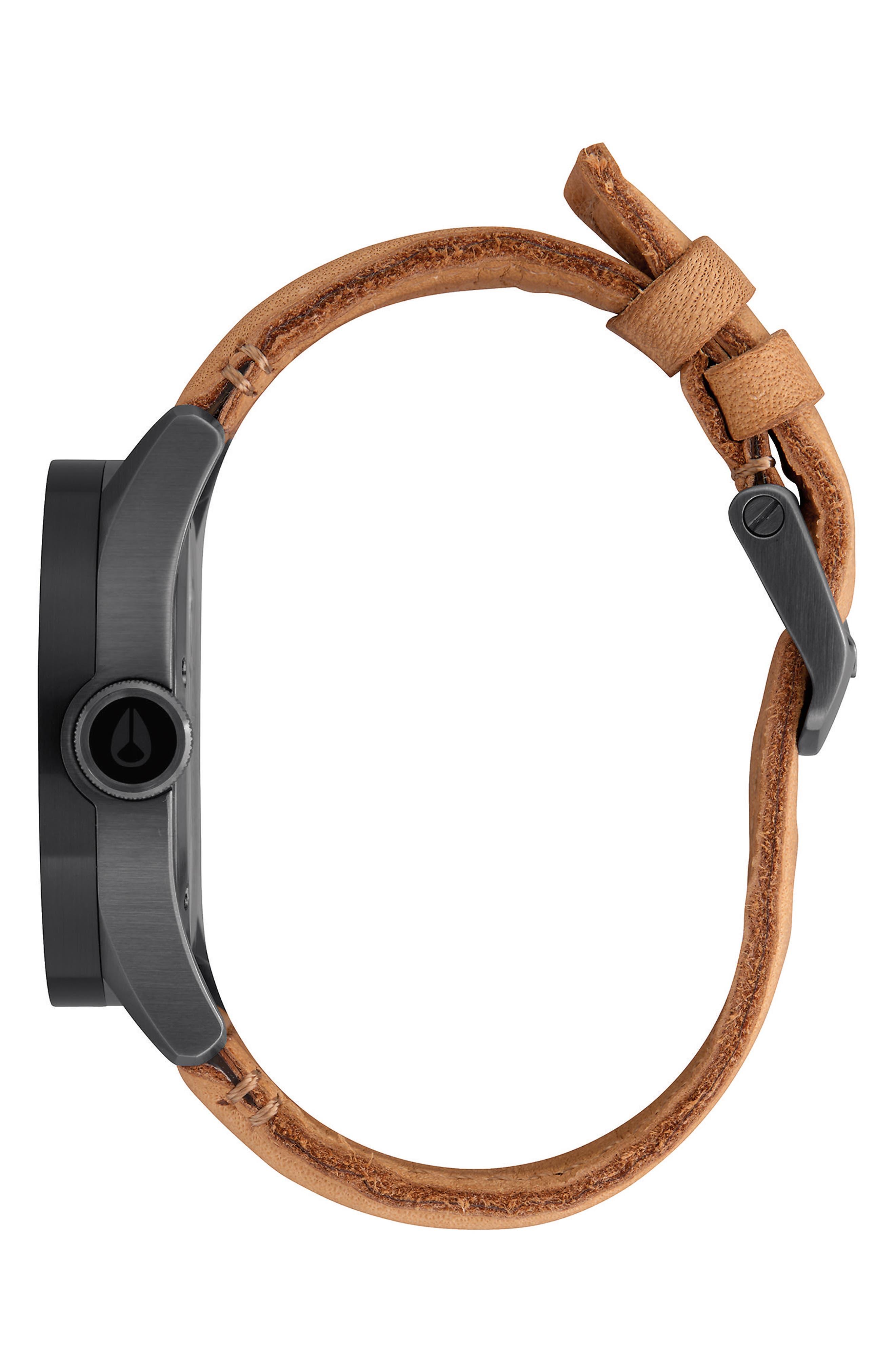 'Safari' Leather Strap Watch, 43mm,                             Alternate thumbnail 7, color,