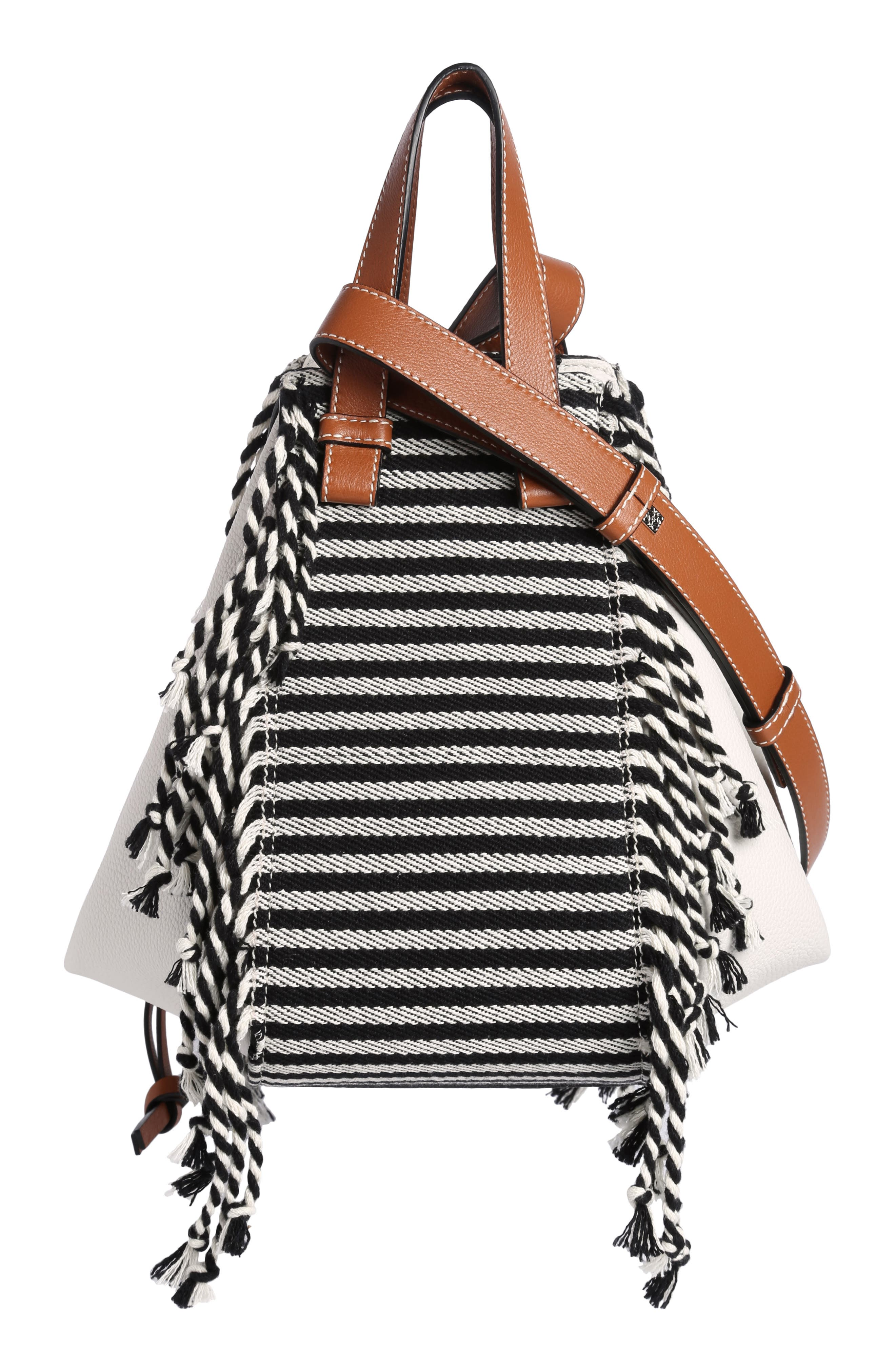 Small Hammock Scarf Crossbody Bag,                             Alternate thumbnail 2, color,                             SOFT WHITE/ TAN/ BLACK
