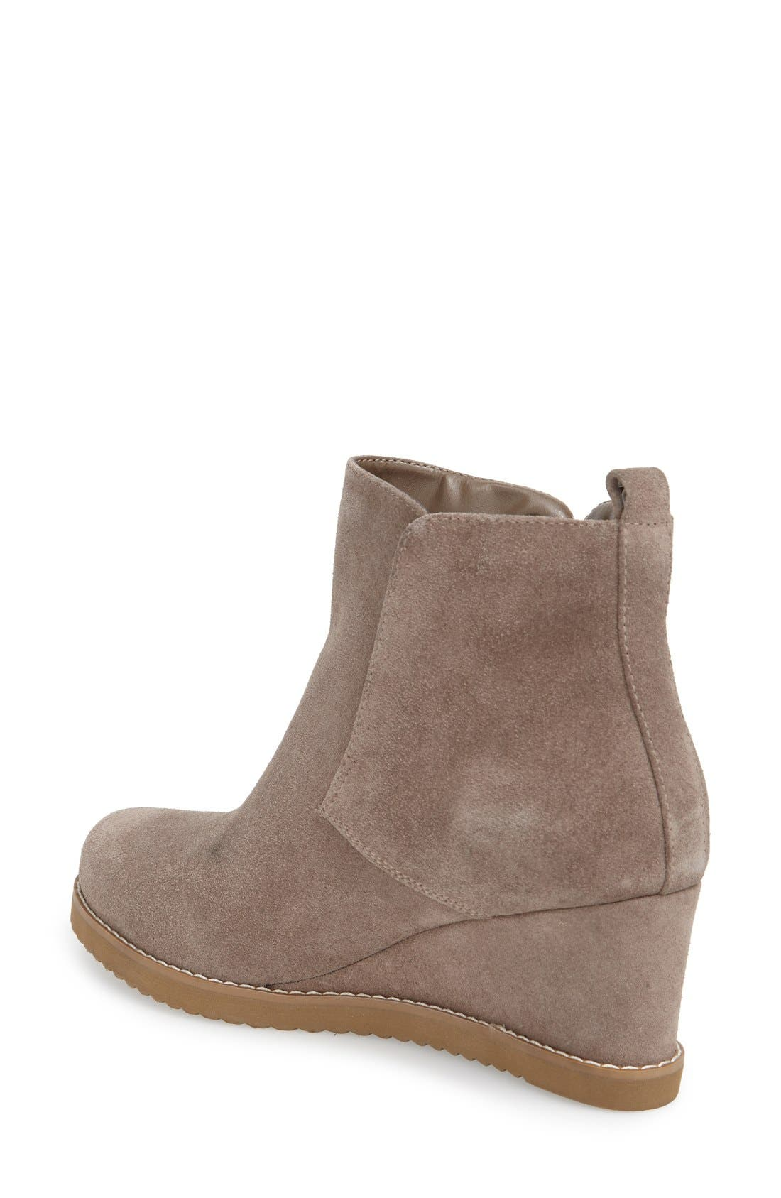 'Karla' Waterproof Wedge Bootie,                             Alternate thumbnail 5, color,