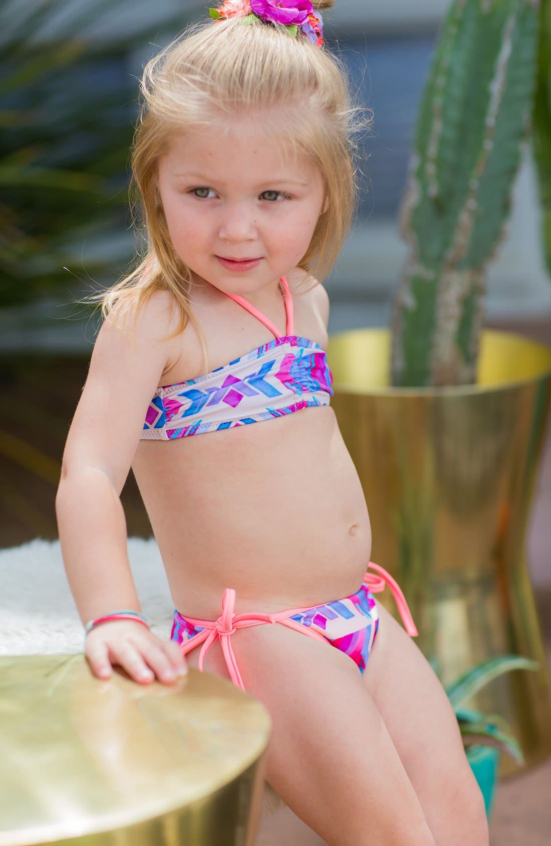 Endless Summer Two-Piece Reversible Bandeau Swimsuit,                             Alternate thumbnail 2, color,                             100