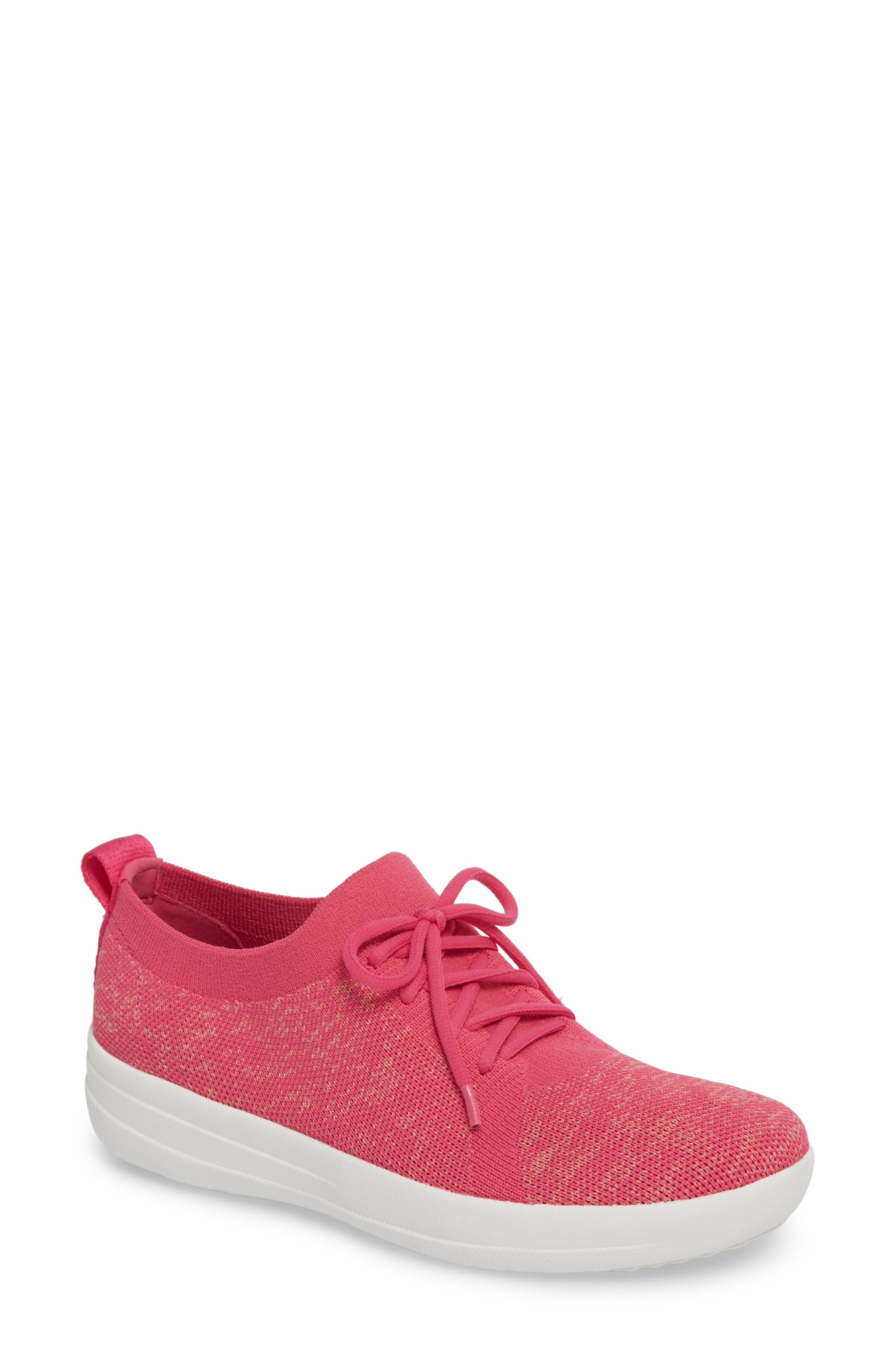 F-Sporty Uberknit<sup>™</sup> Sneaker,                             Main thumbnail 1, color,                             FUCHSIA/ DUSTY PINK