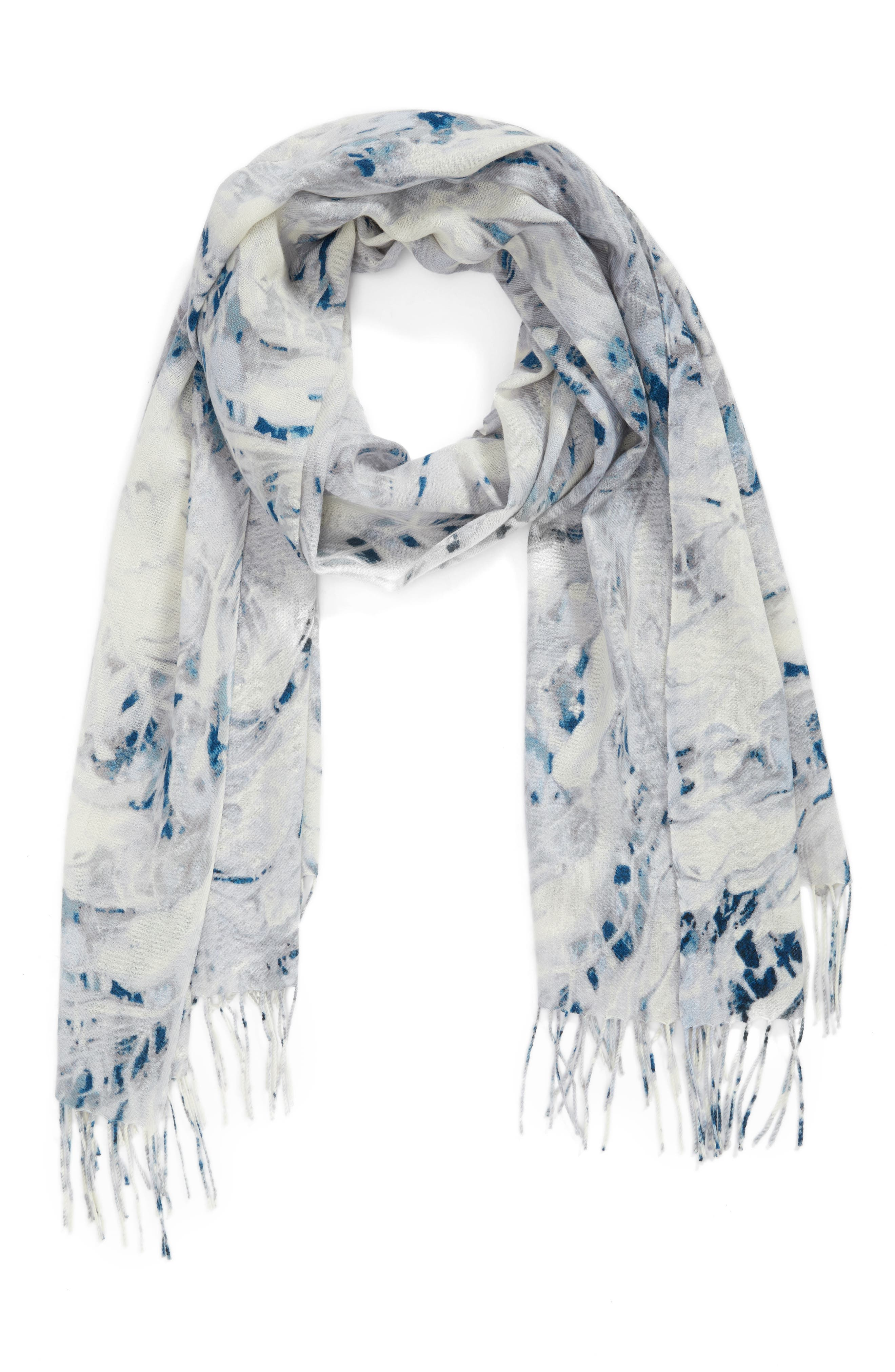 Marble Tissue Wool & Cashmere Scarf,                             Alternate thumbnail 2, color,                             020