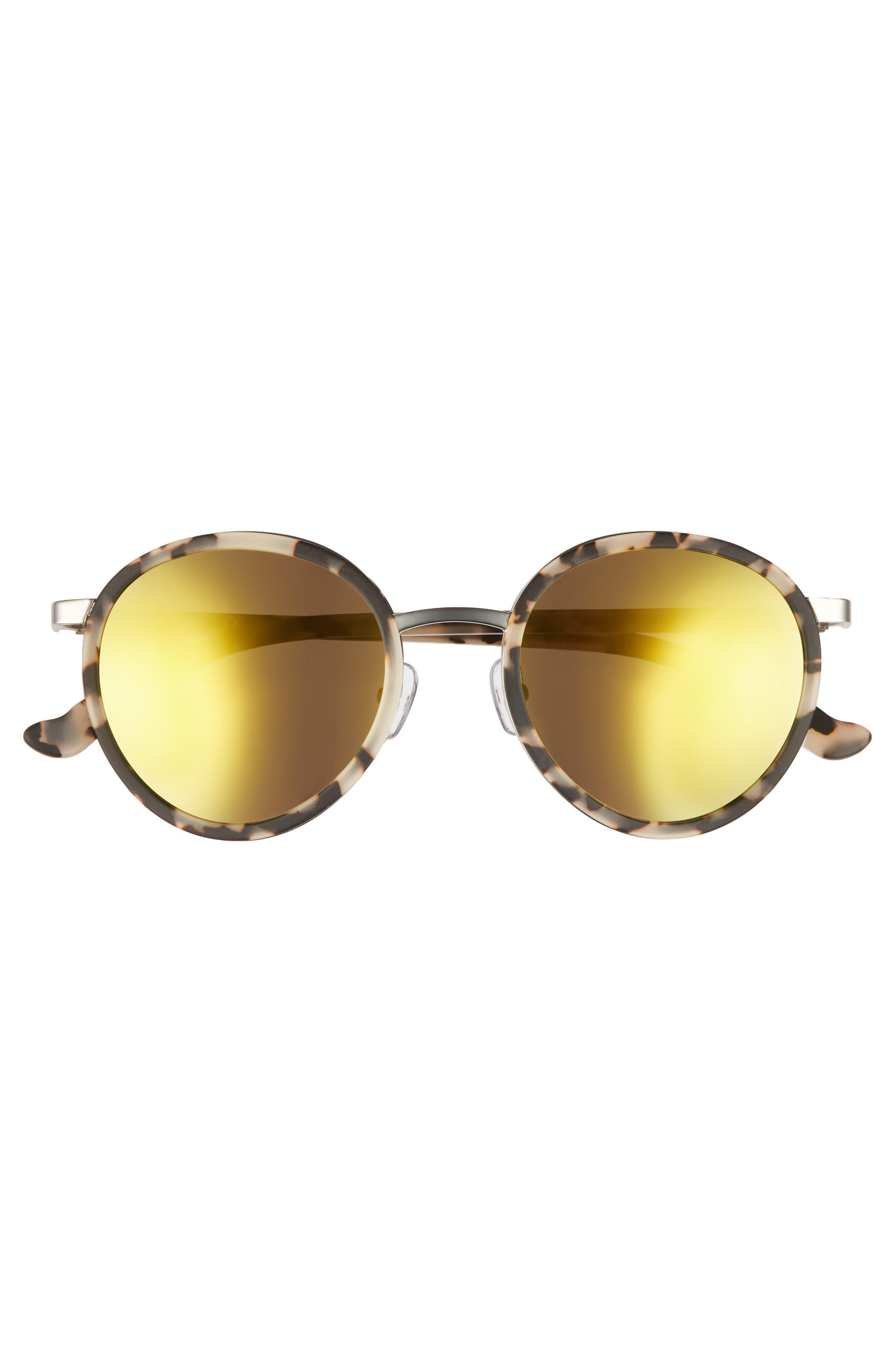 Cabo 50mm Polarized Round Sunglasses,                             Alternate thumbnail 8, color,