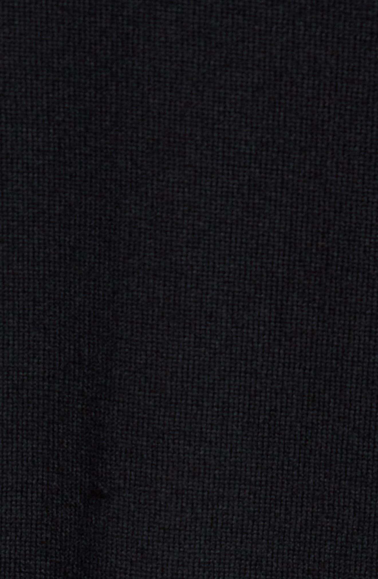 Classic Slim Fit Merino Wool Hoodie,                             Alternate thumbnail 5, color,                             001