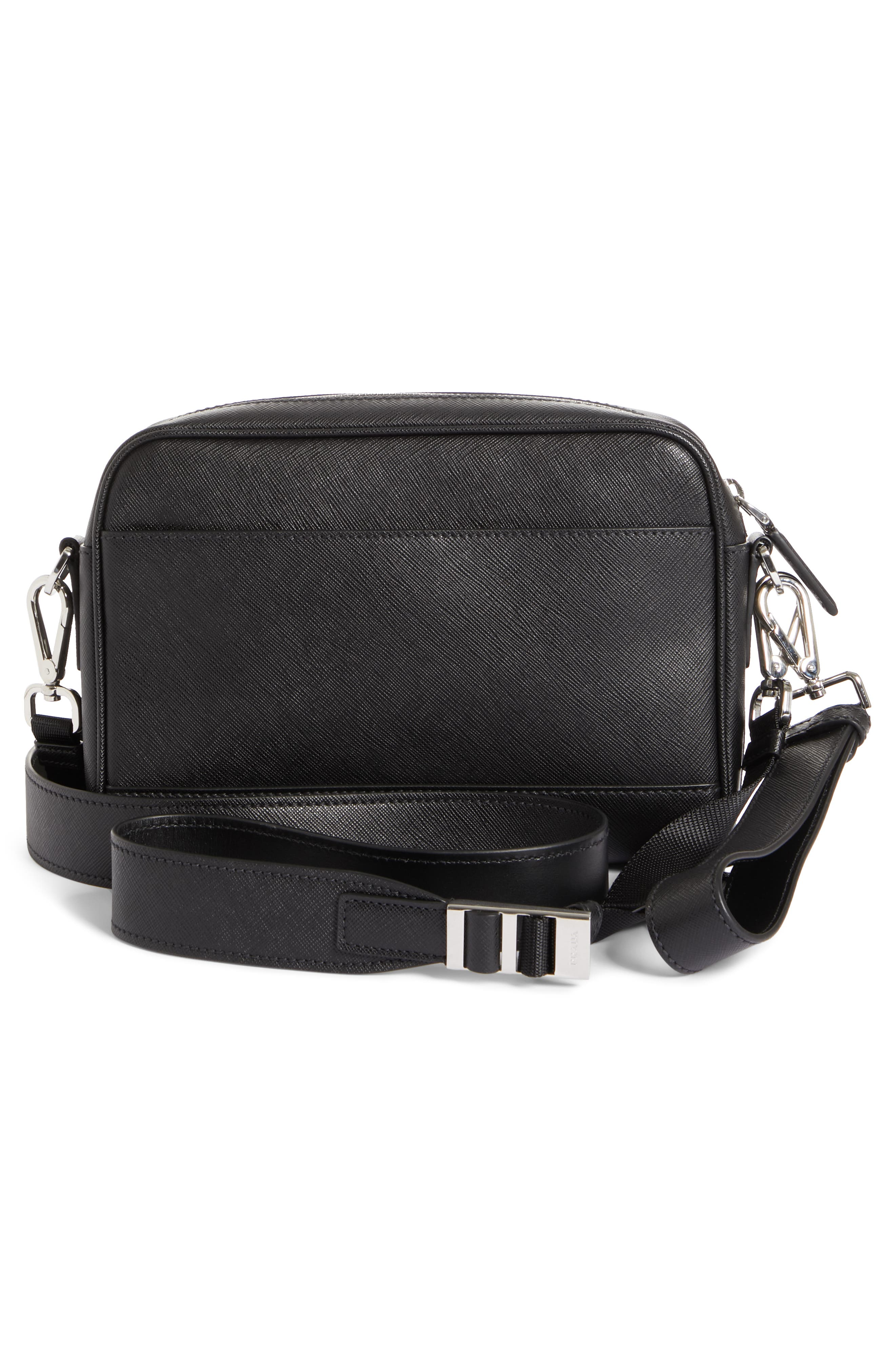 Saffiano Leather Travel Bag,                             Alternate thumbnail 3, color,                             001