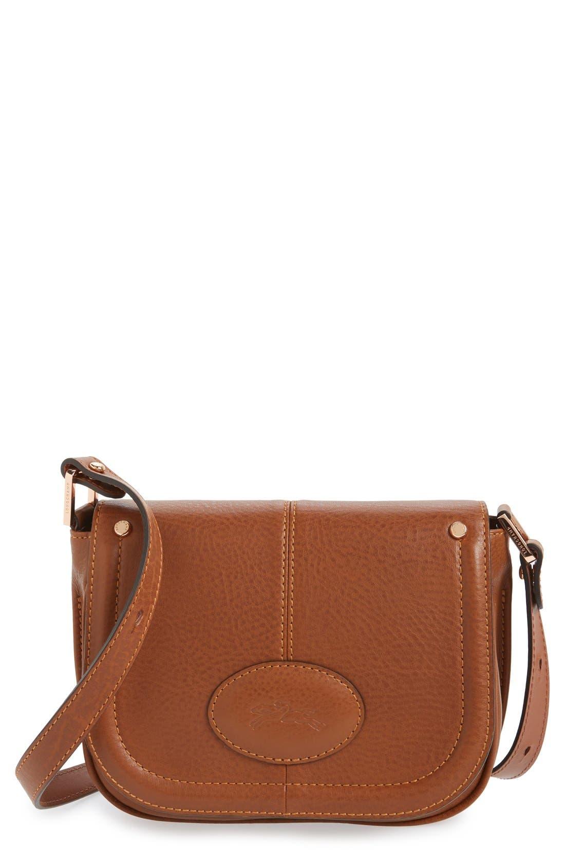 'Small Mystery' Leather Crossbody Bag,                             Main thumbnail 2, color,