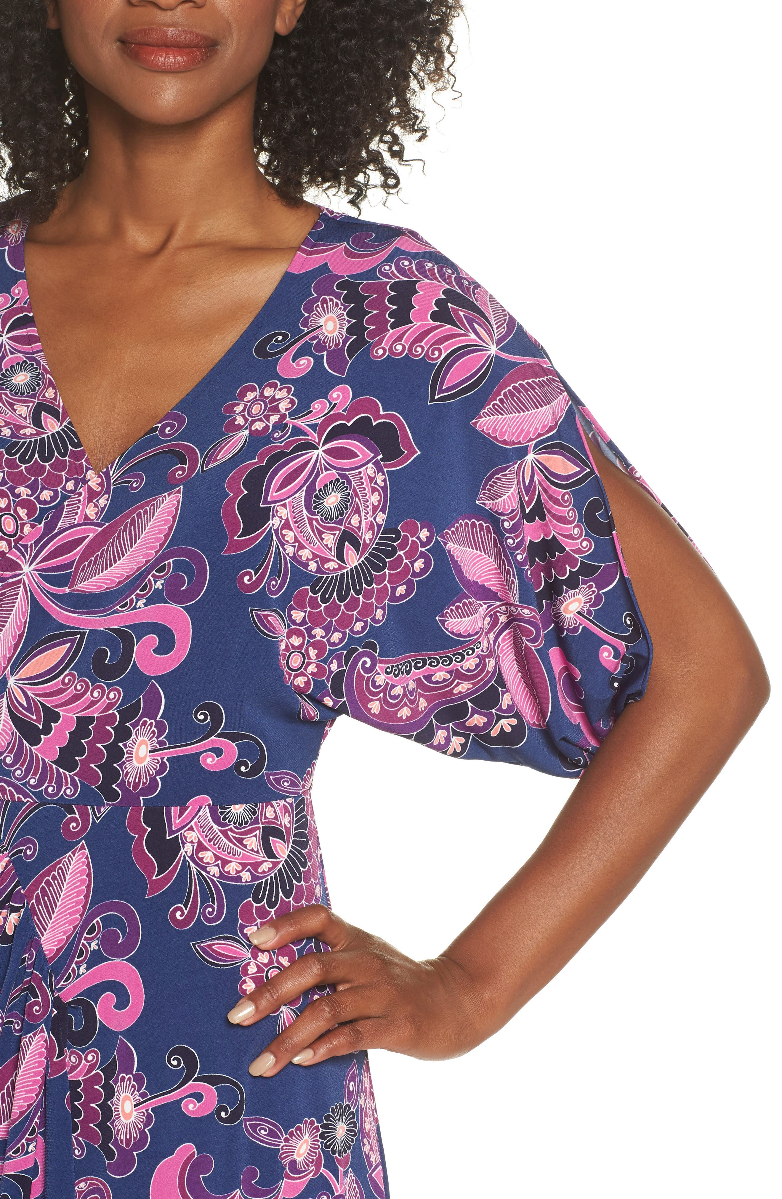 Payton Print Jersey Dress,                             Alternate thumbnail 4, color,                             MULTI