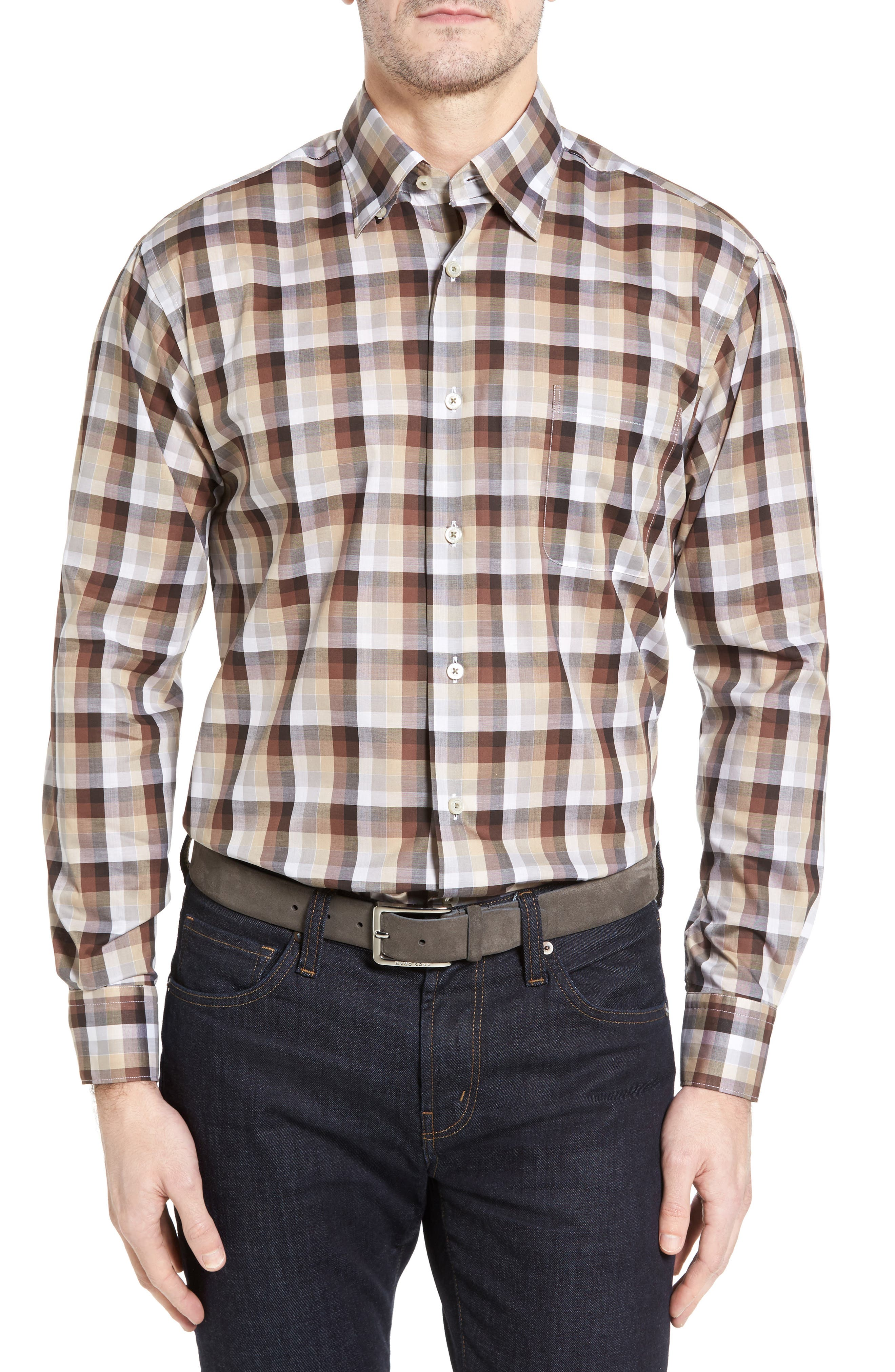 Anderson Classic Fit Check Sport Shirt,                             Main thumbnail 1, color,                             200