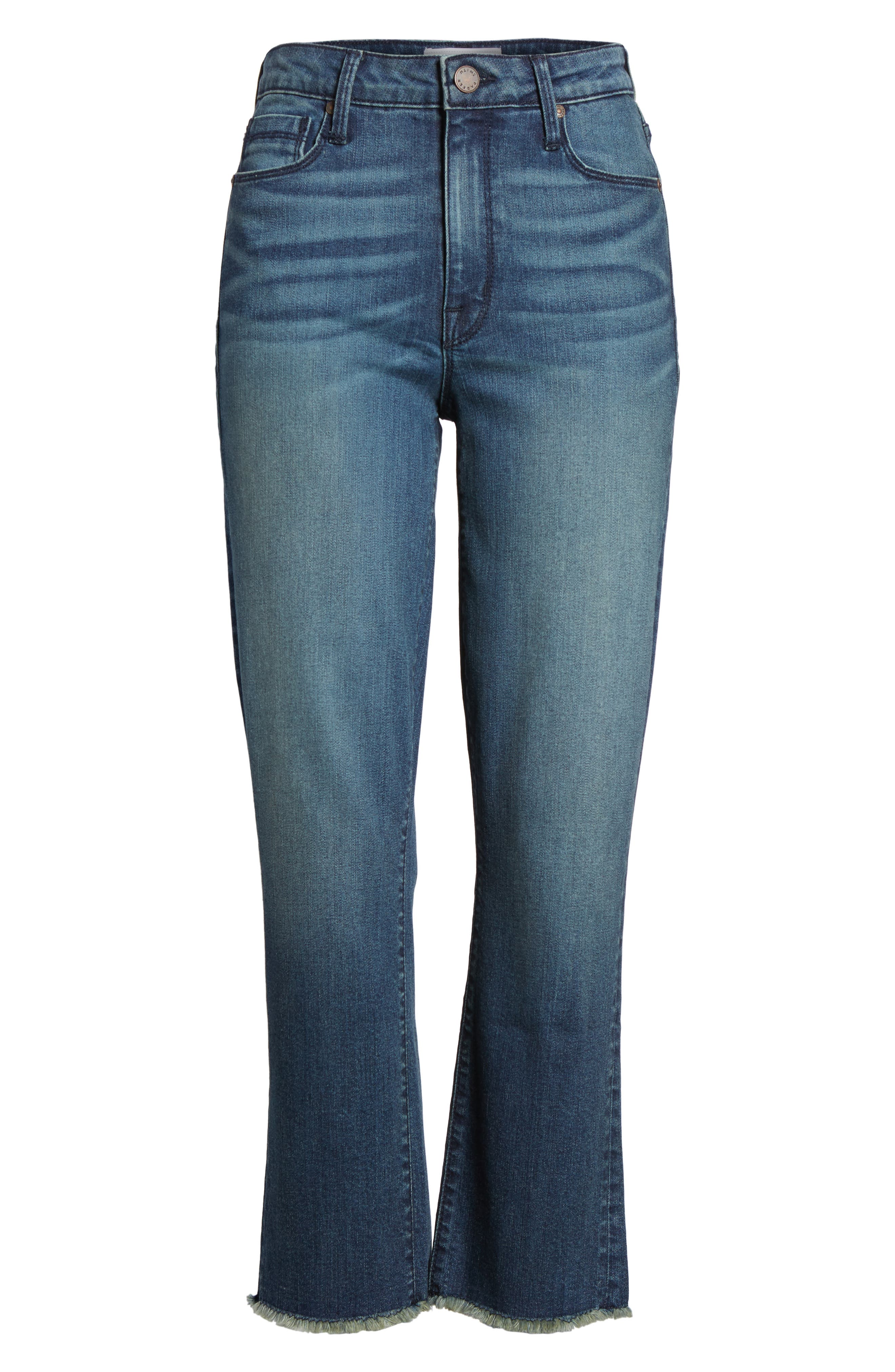 Pin-Up Straight Crop Jeans,                             Alternate thumbnail 7, color,                             424