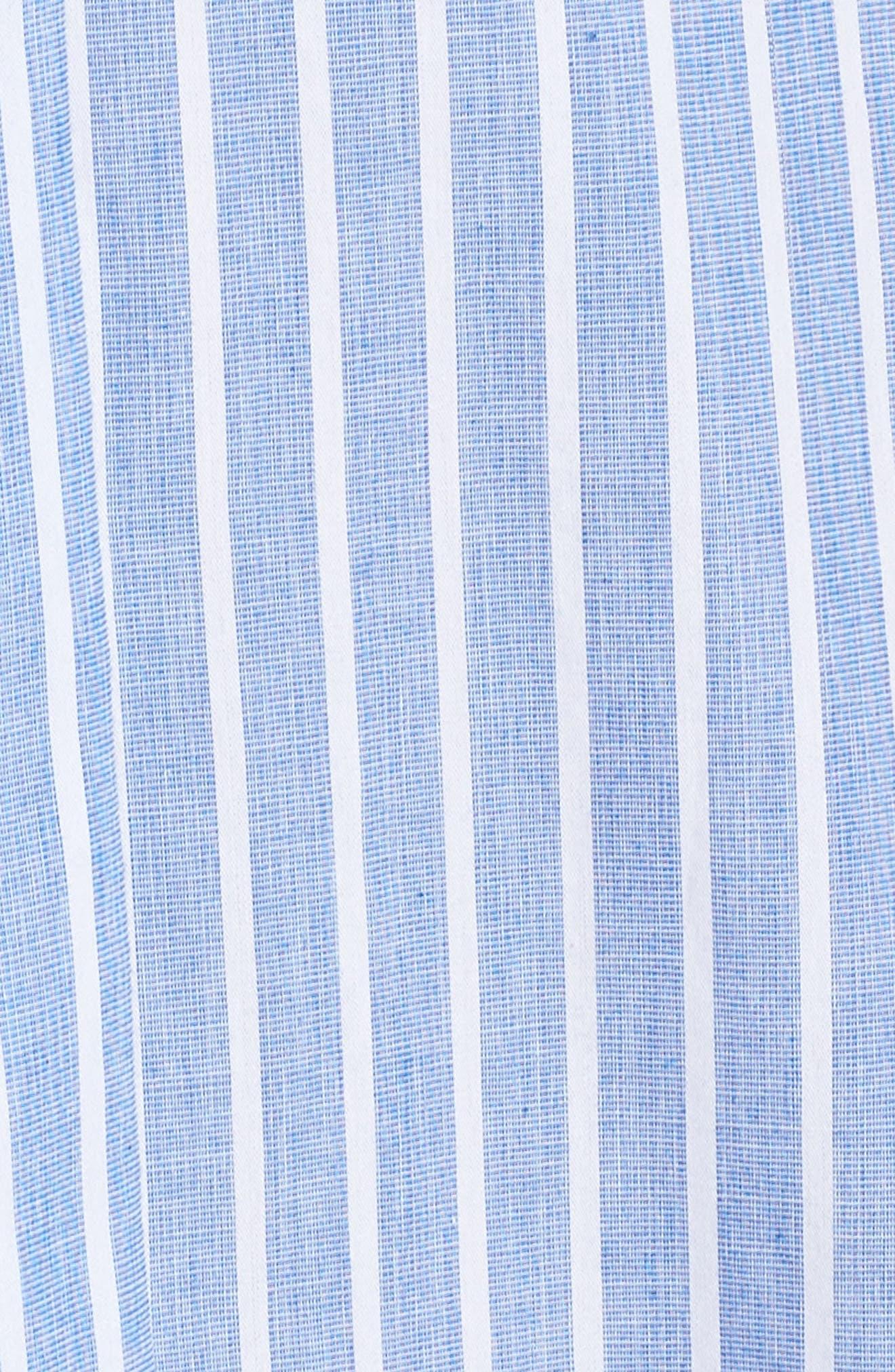 Stripe Shirtdress,                             Alternate thumbnail 6, color,                             465