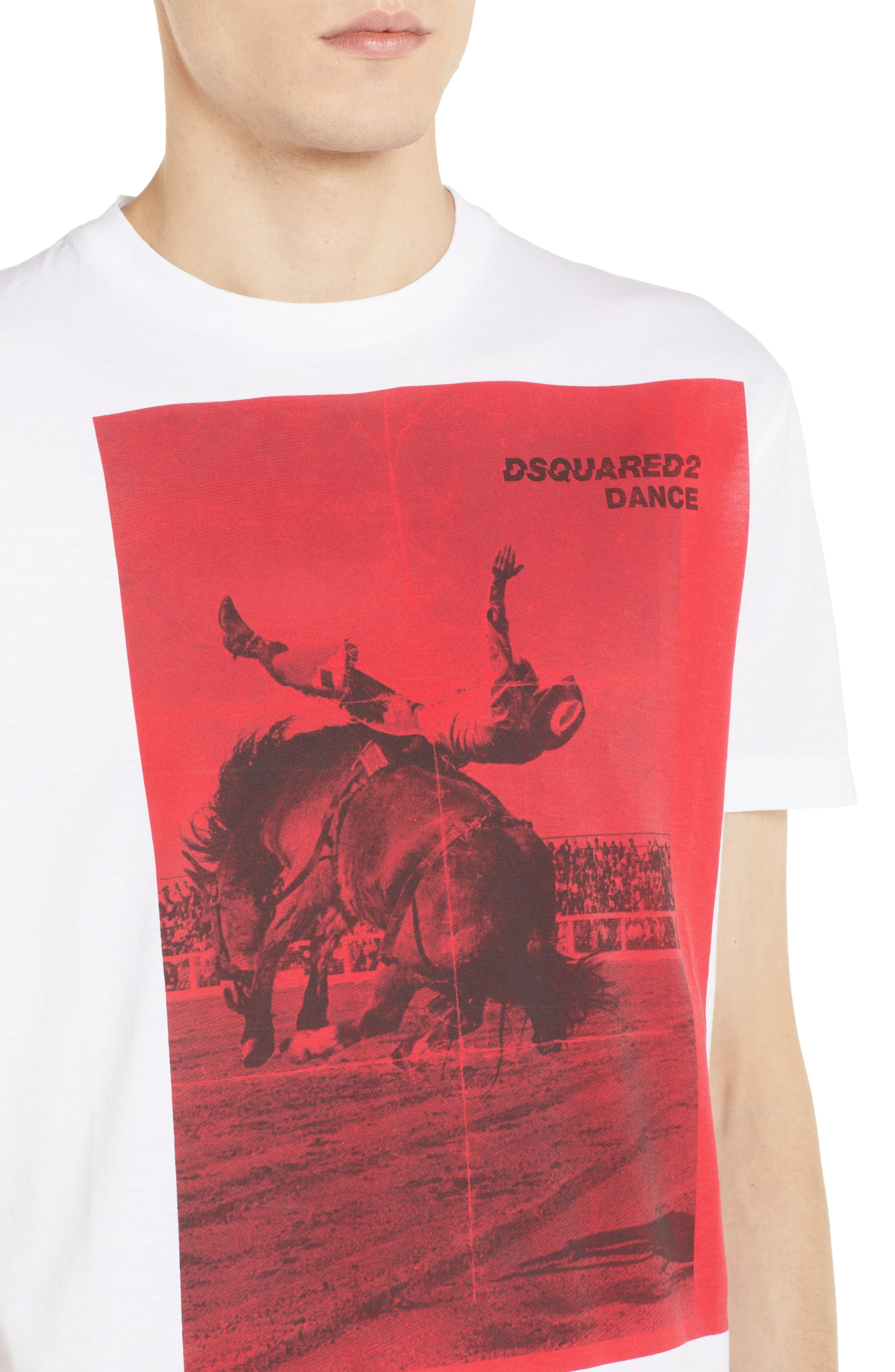Rodeo Graphic T-Shirt,                             Alternate thumbnail 4, color,                             WHITE