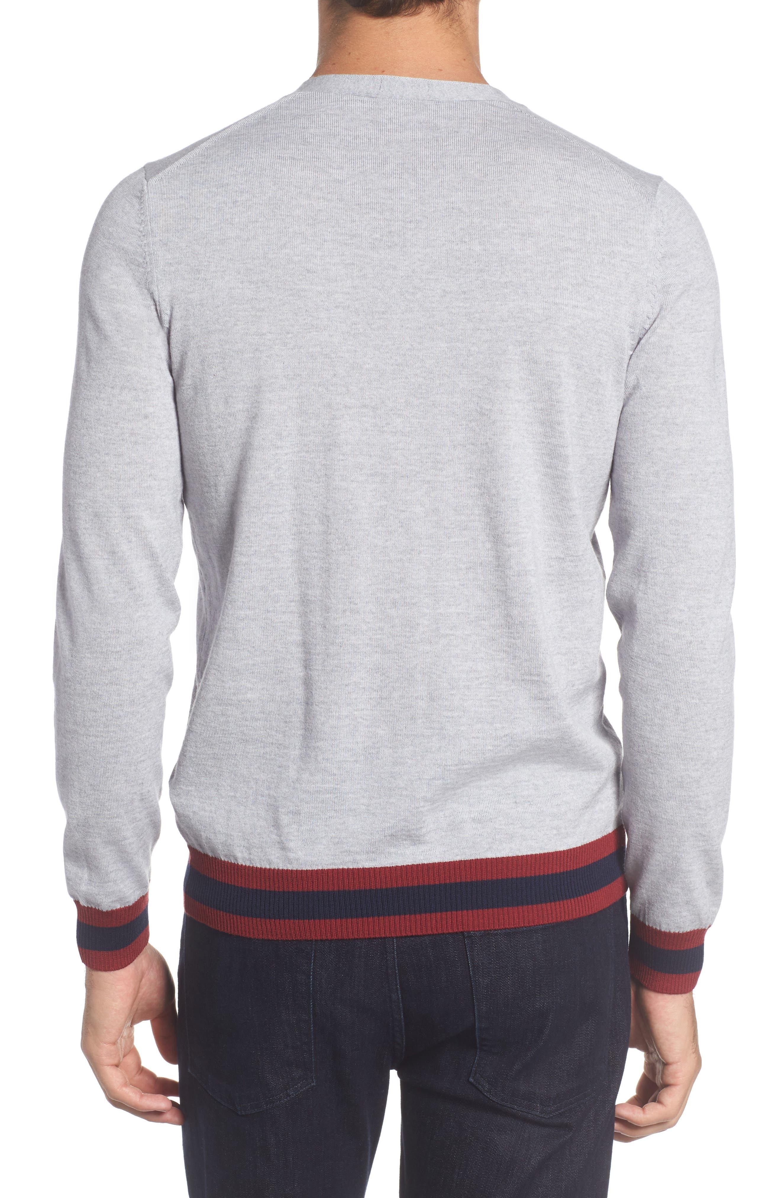 Navello Slim Fit Wool V-Neck Sweater,                             Alternate thumbnail 2, color,                             072