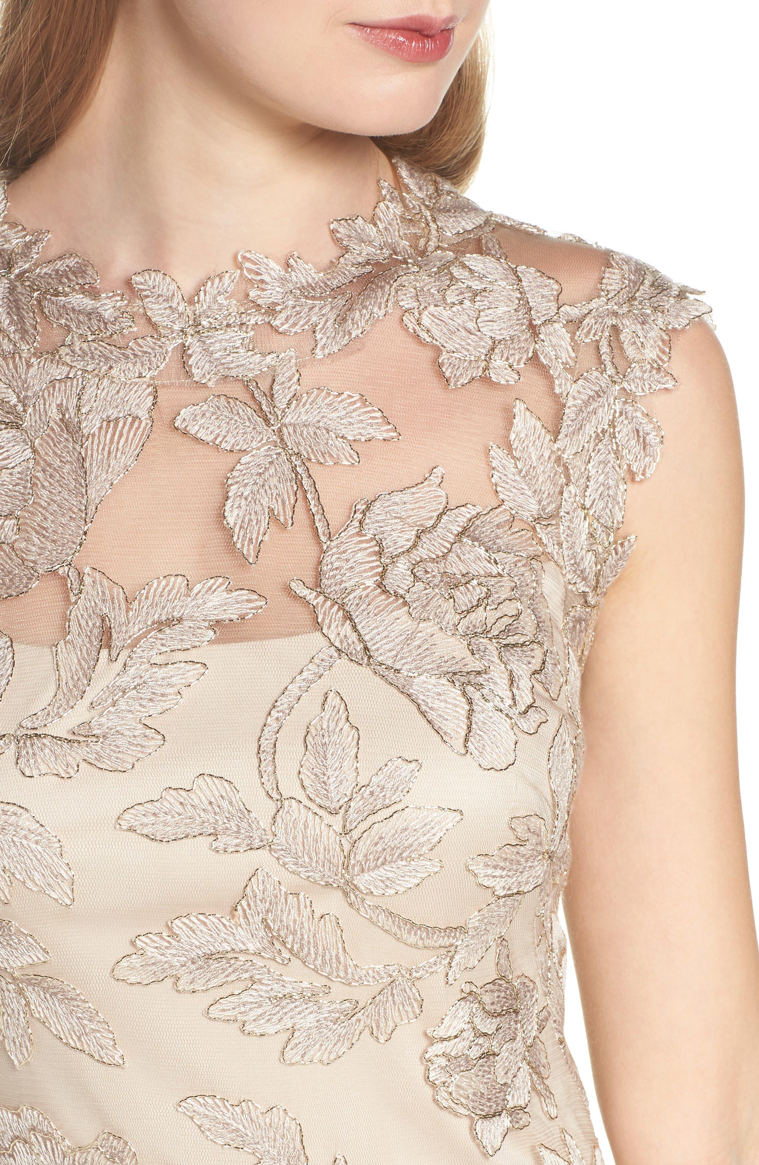 Noelle Floral Fit & Flare Dress,                             Alternate thumbnail 16, color,