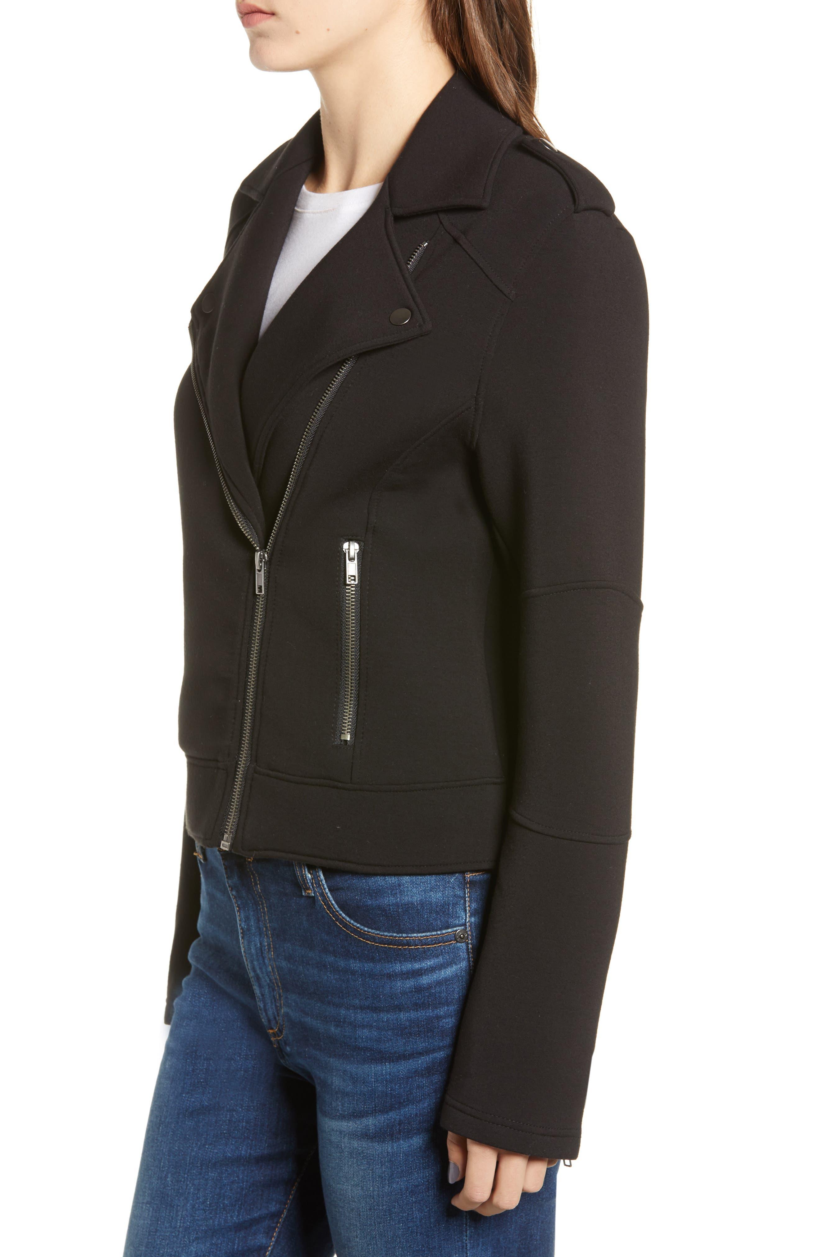 Harlei Scuba Moto Jacket,                             Alternate thumbnail 3, color,                             001