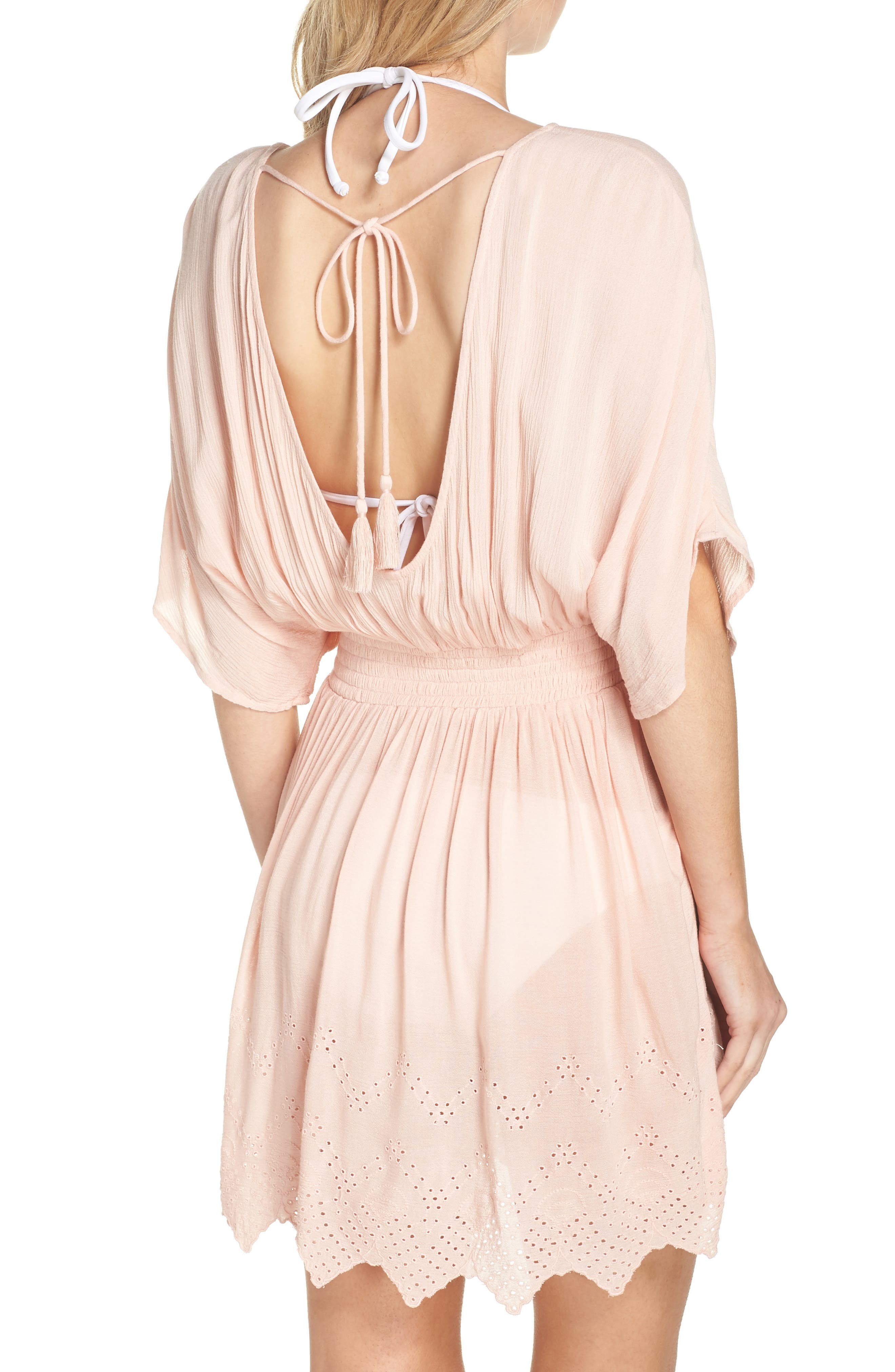 Goddess Cover-Up Dress,                             Alternate thumbnail 2, color,                             PINK ROSECLOUD