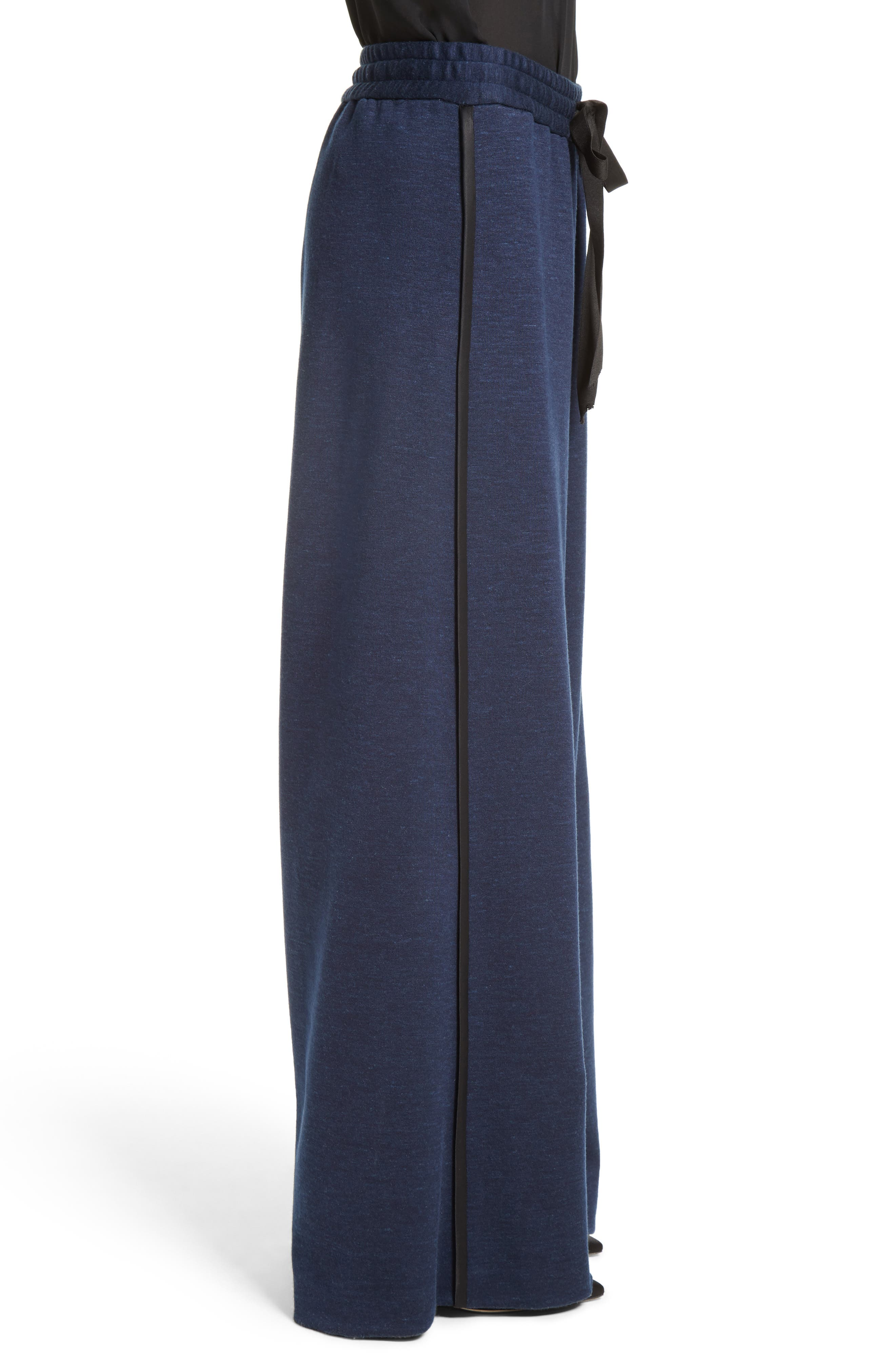 Jersey Wide Leg Drawstring Pants,                             Alternate thumbnail 3, color,                             413