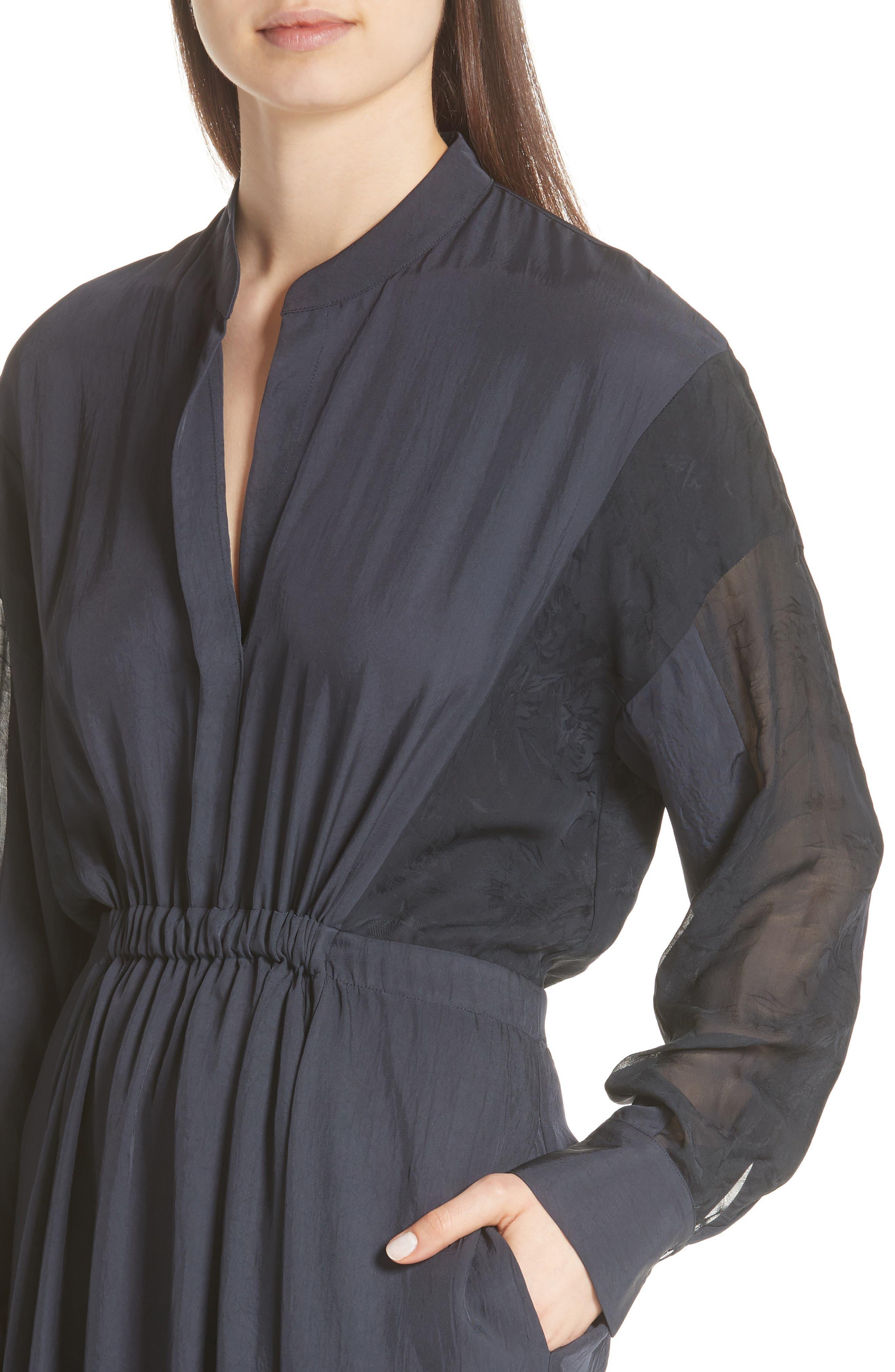 Mixed Media Midi Dress,                             Alternate thumbnail 4, color,                             403