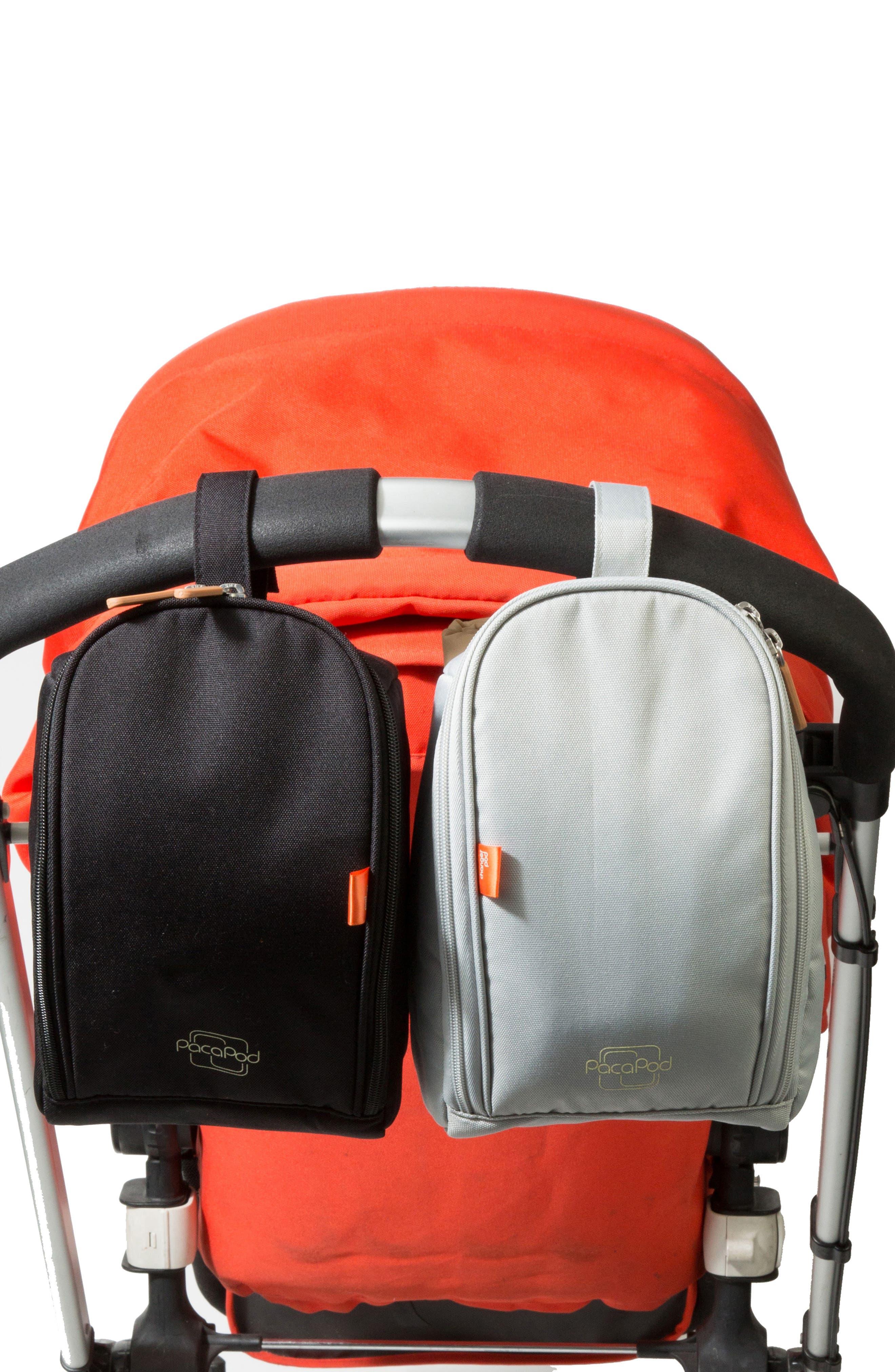 'Richmond' Diaper Bag,                             Alternate thumbnail 6, color,                             CHARCOAL HERRINGBONE