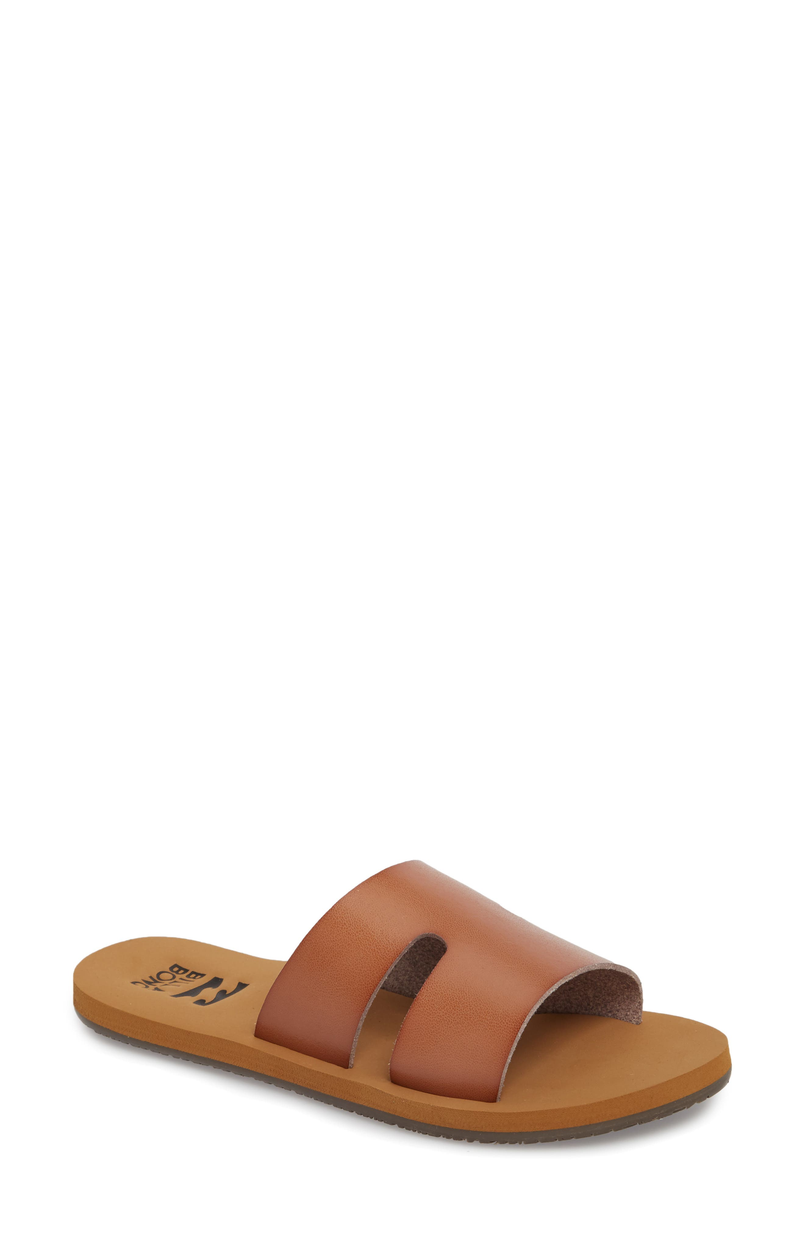 Wander Often Slide Sandal,                             Main thumbnail 1, color,                             DESERT BROWN