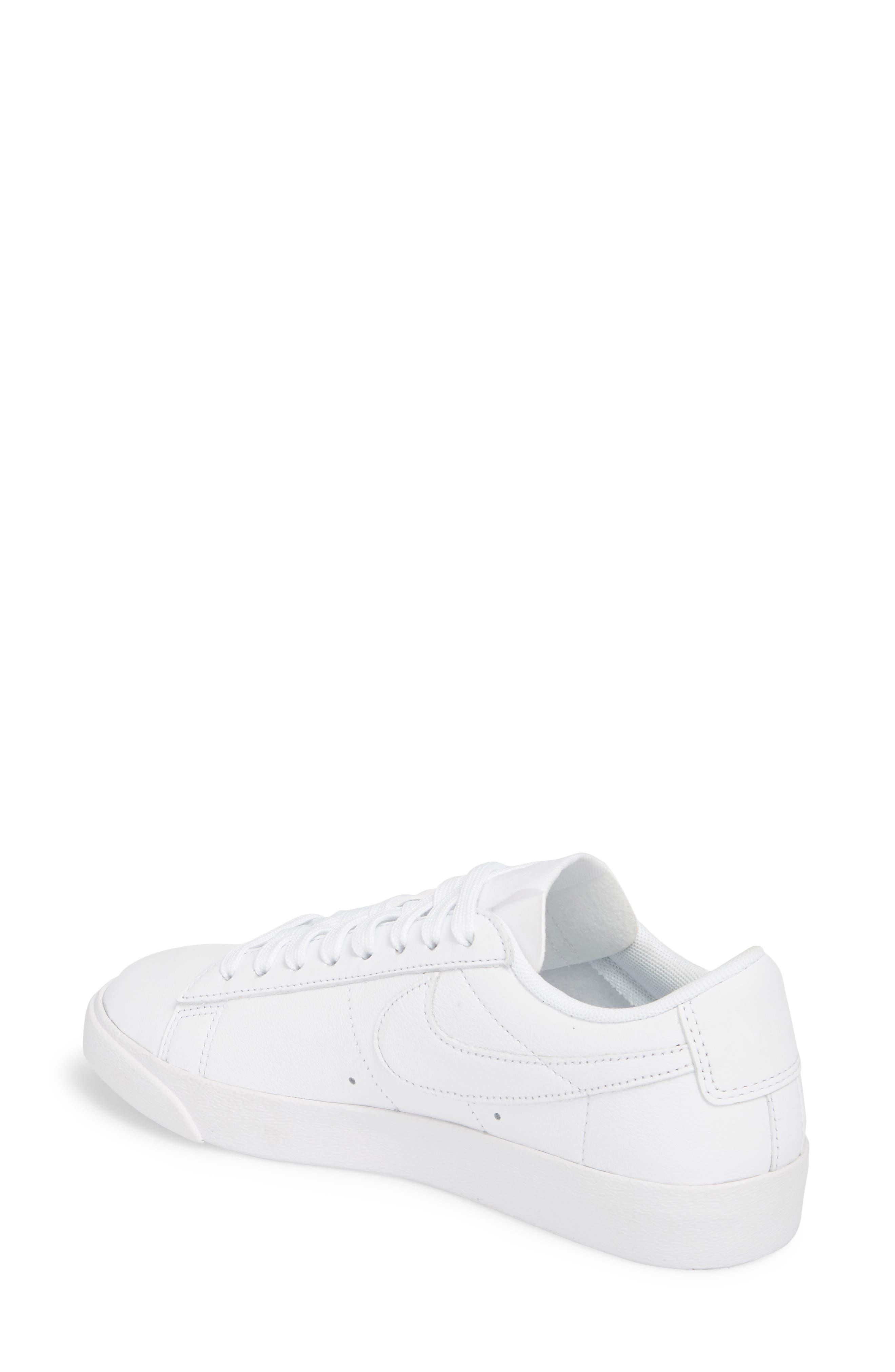 Blazer Low LE Sneaker,                             Alternate thumbnail 2, color,                             WHITE/ WHITE-WHITE