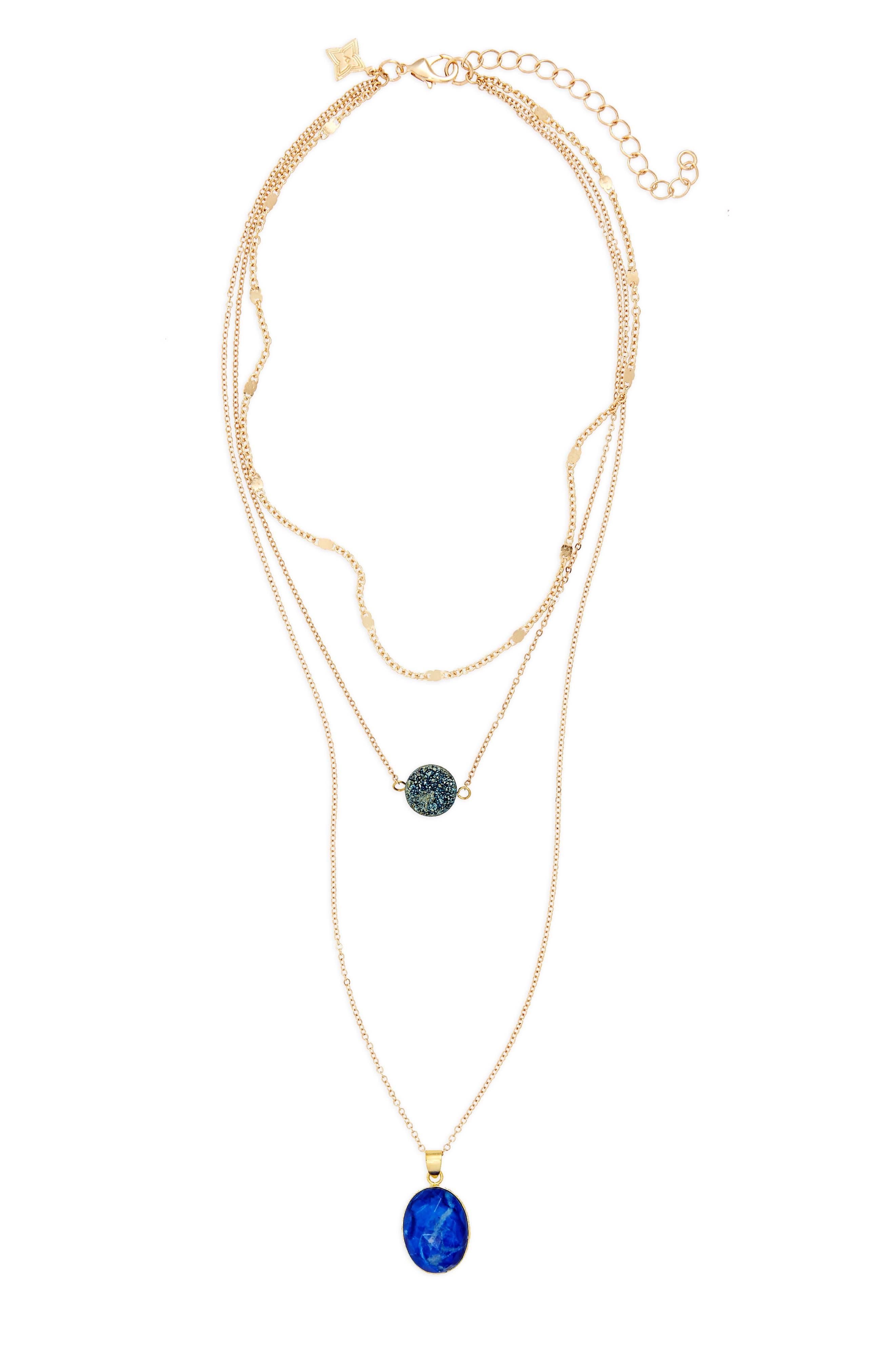 Multistrand Pendant Necklace,                             Main thumbnail 1, color,                             410