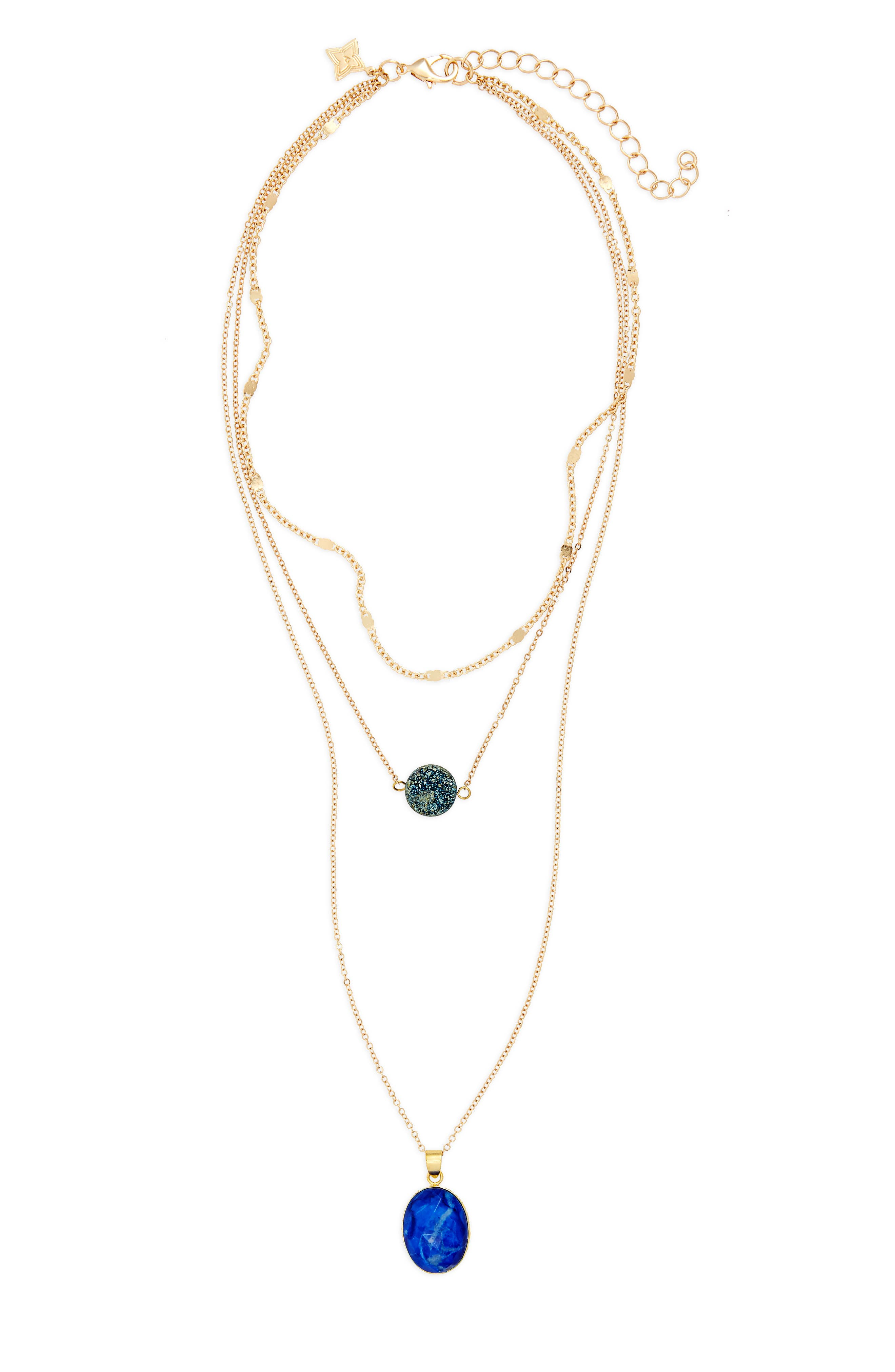 Multistrand Pendant Necklace,                         Main,                         color, 410